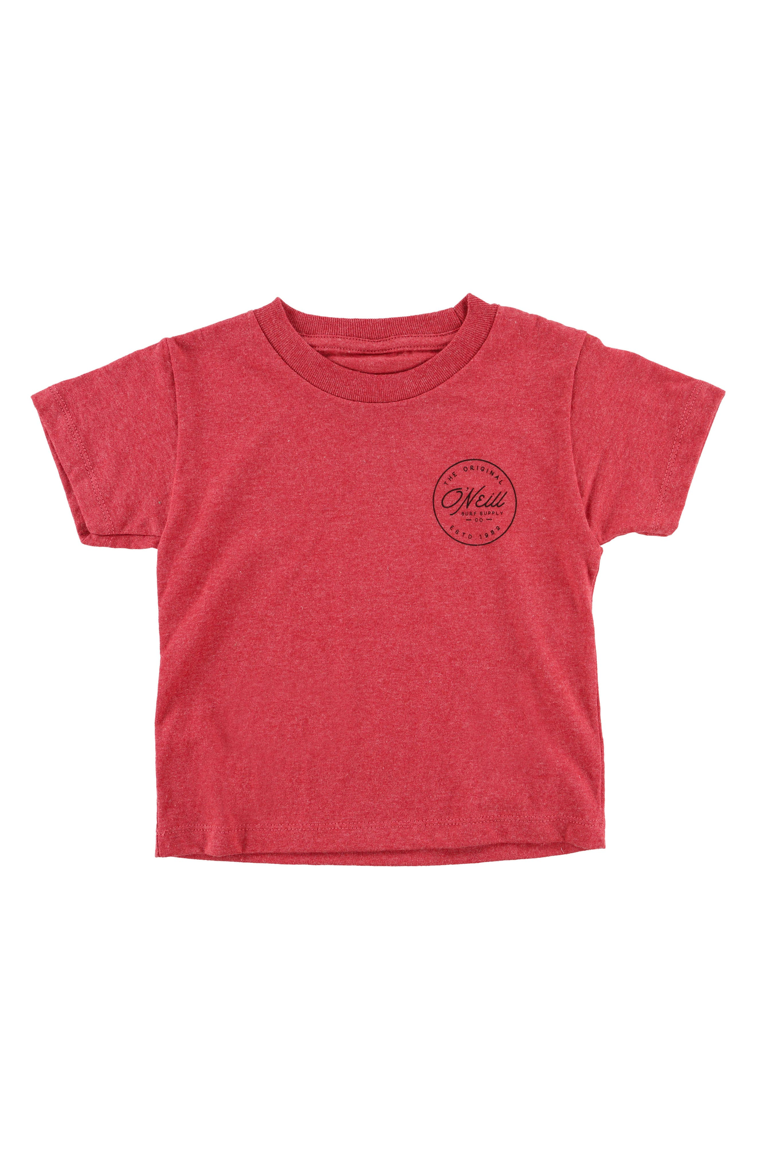 Makers T-Shirt,                         Main,                         color, Heather Red