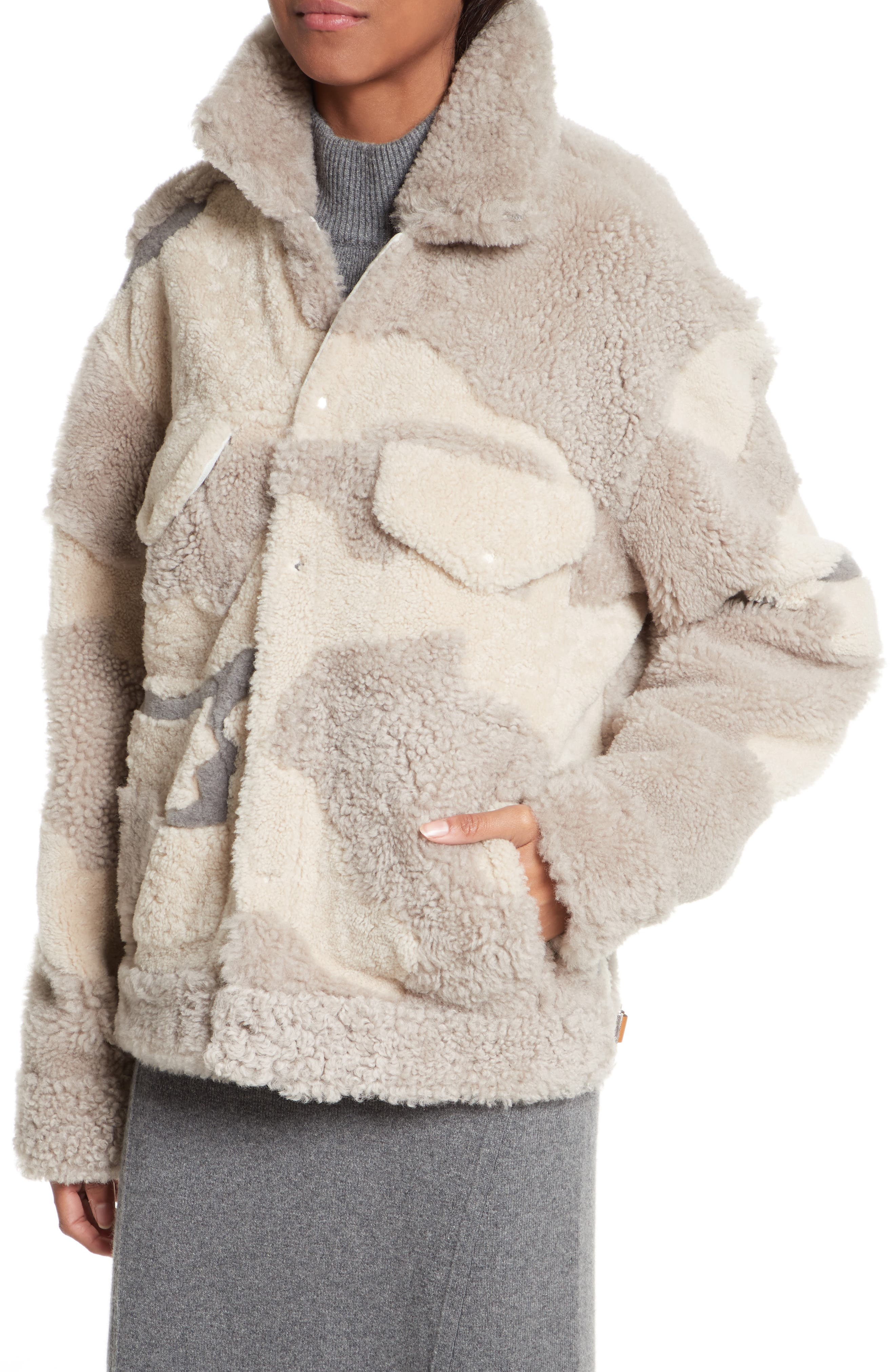 Alternate Image 6  - rag & bone Jake Camo Genuine Shearling Jacket