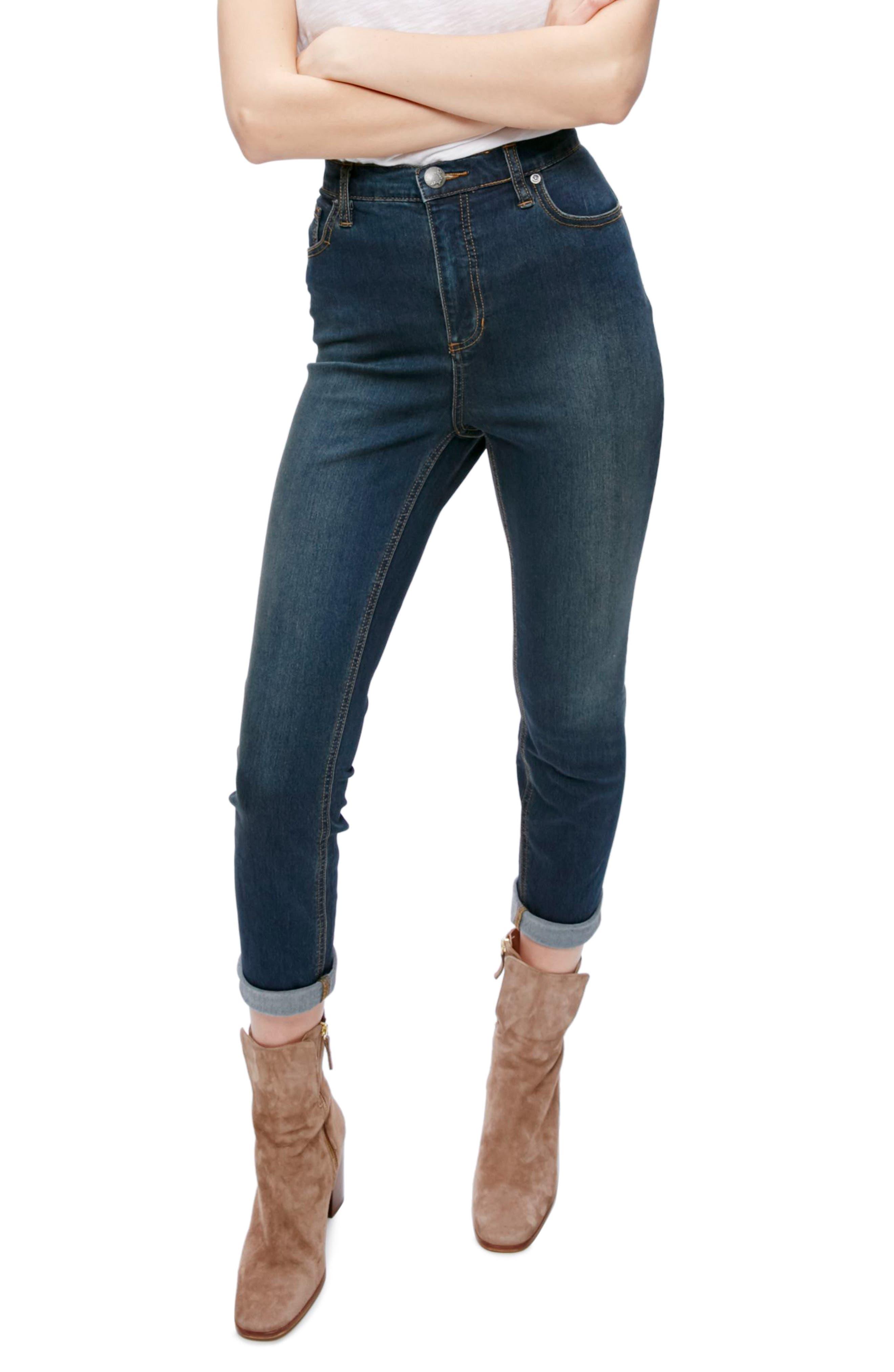 Gummy High Waist Jeans,                         Main,                         color, Cane Wash