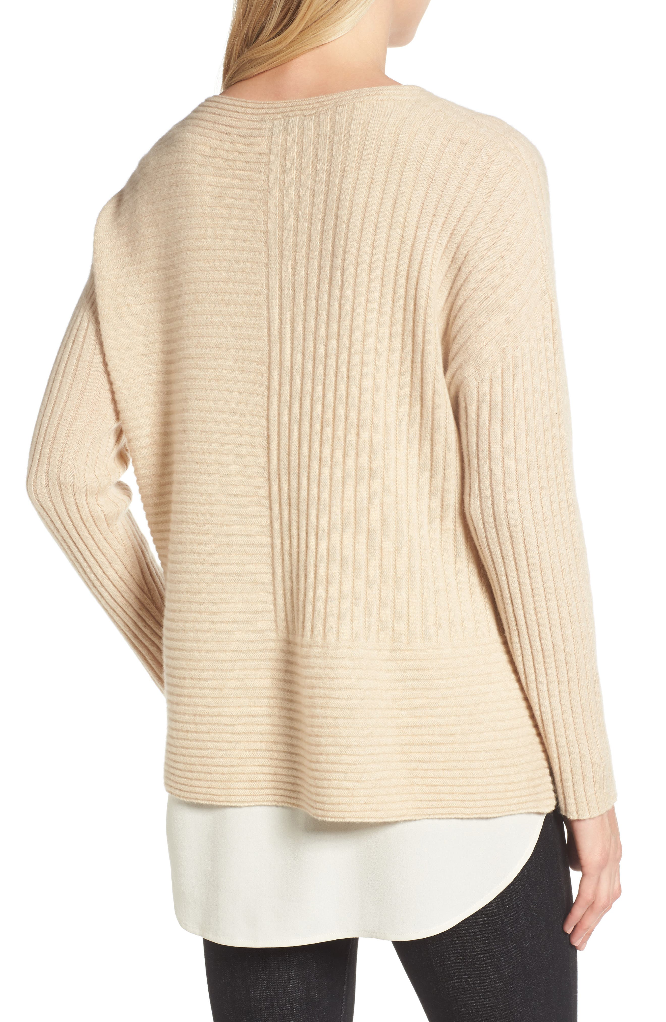 Alternate Image 2  - Eileen Fisher Ribbed Cashmere Sweater