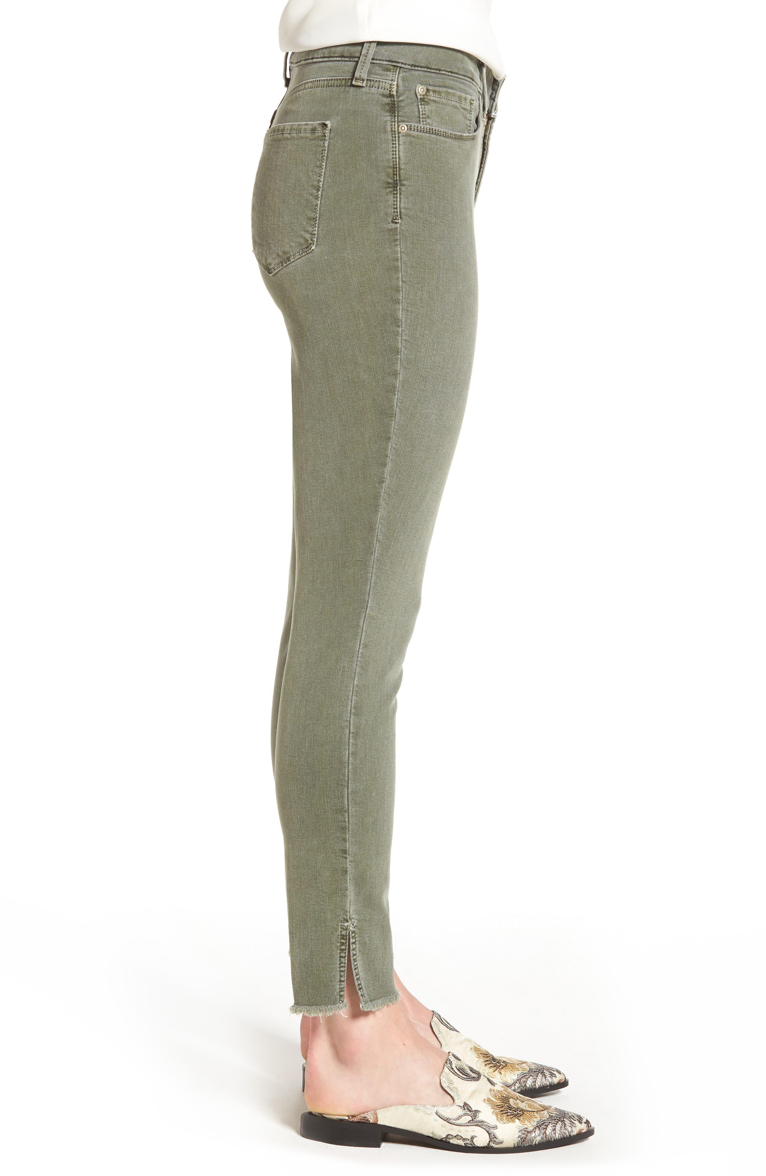Alternate Image 3  - NYDJ Ami Frayed Hem Stretch Skinny Ankle Jeans (Regular & Petite)