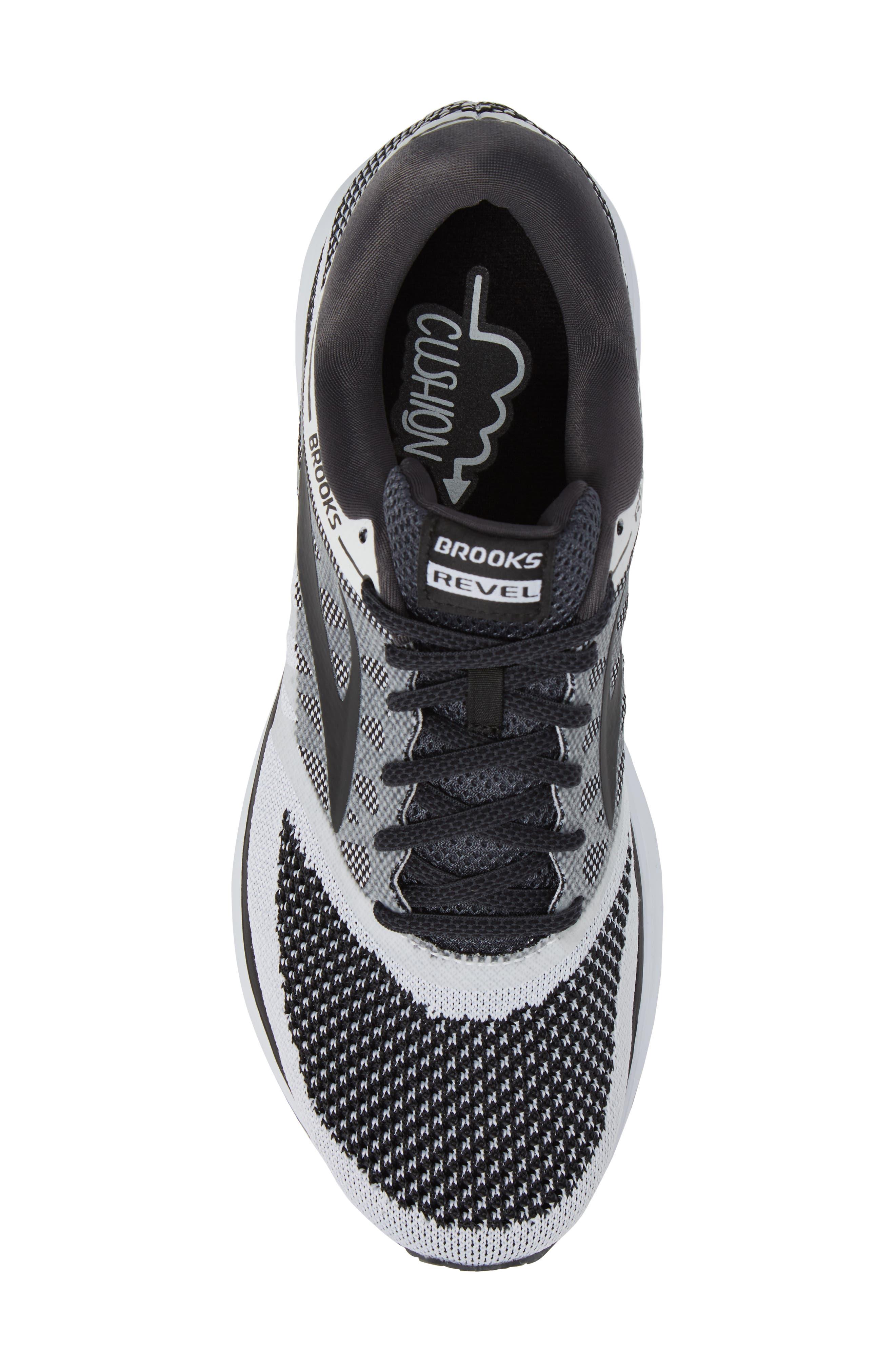 Revel Sneaker,                             Alternate thumbnail 5, color,                             White/ Anthracite/ Black