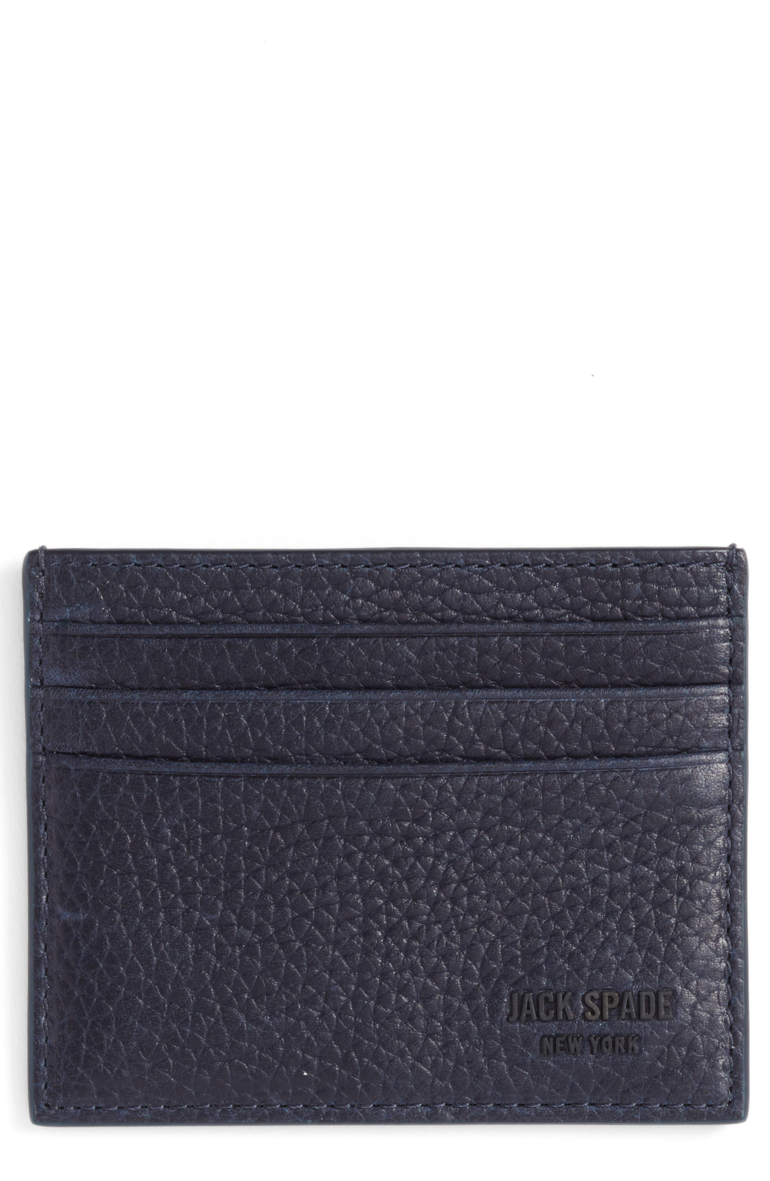 JACK SPADE Leather Card Case