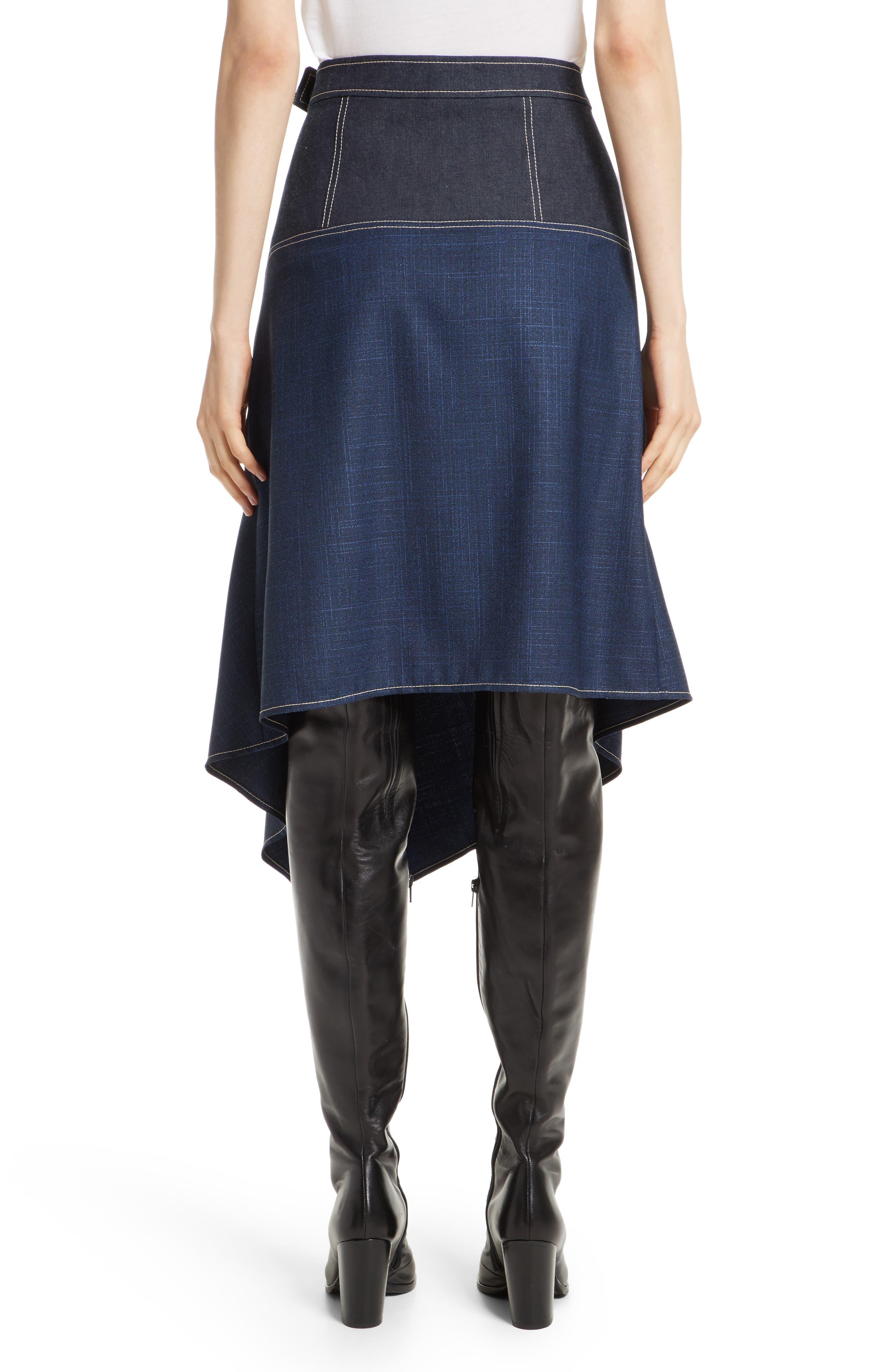 Alternate Image 2  - Colovos Asymmetrical Mixed Media Skirt