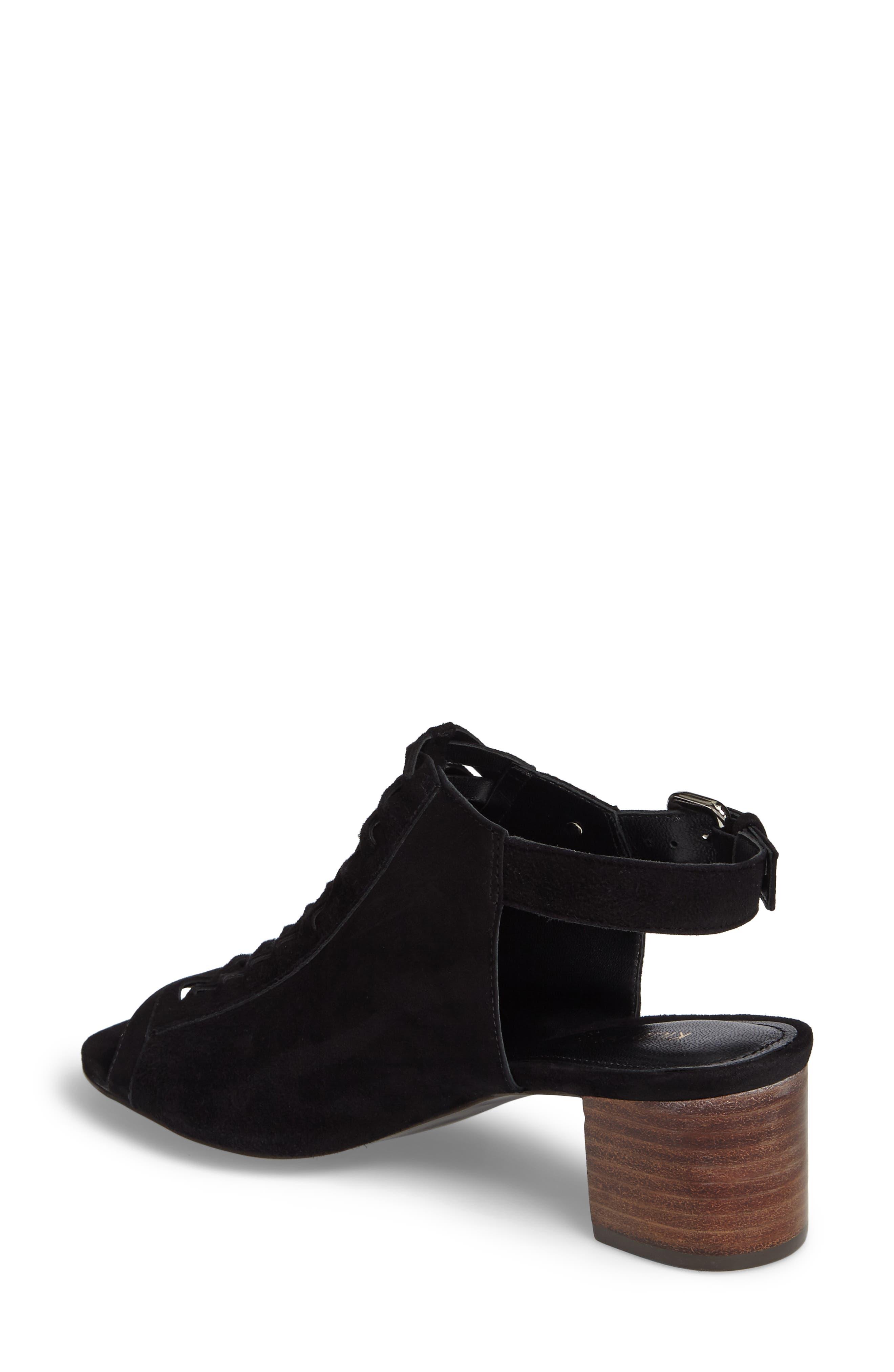 Dallas Woven Sandal,                             Alternate thumbnail 2, color,                             Black Suede