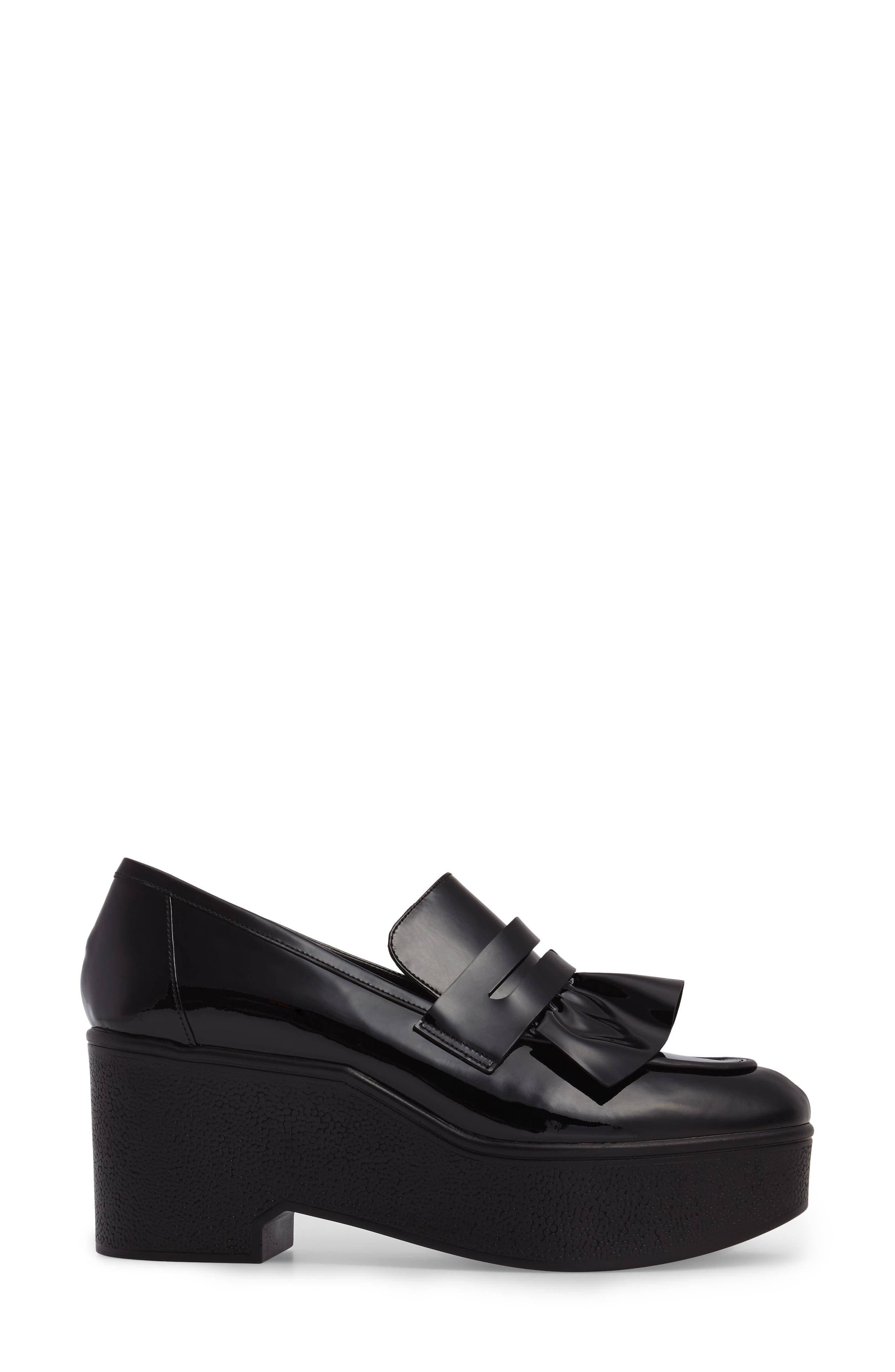 Xock Platform Loafer,                             Alternate thumbnail 3, color,                             Black