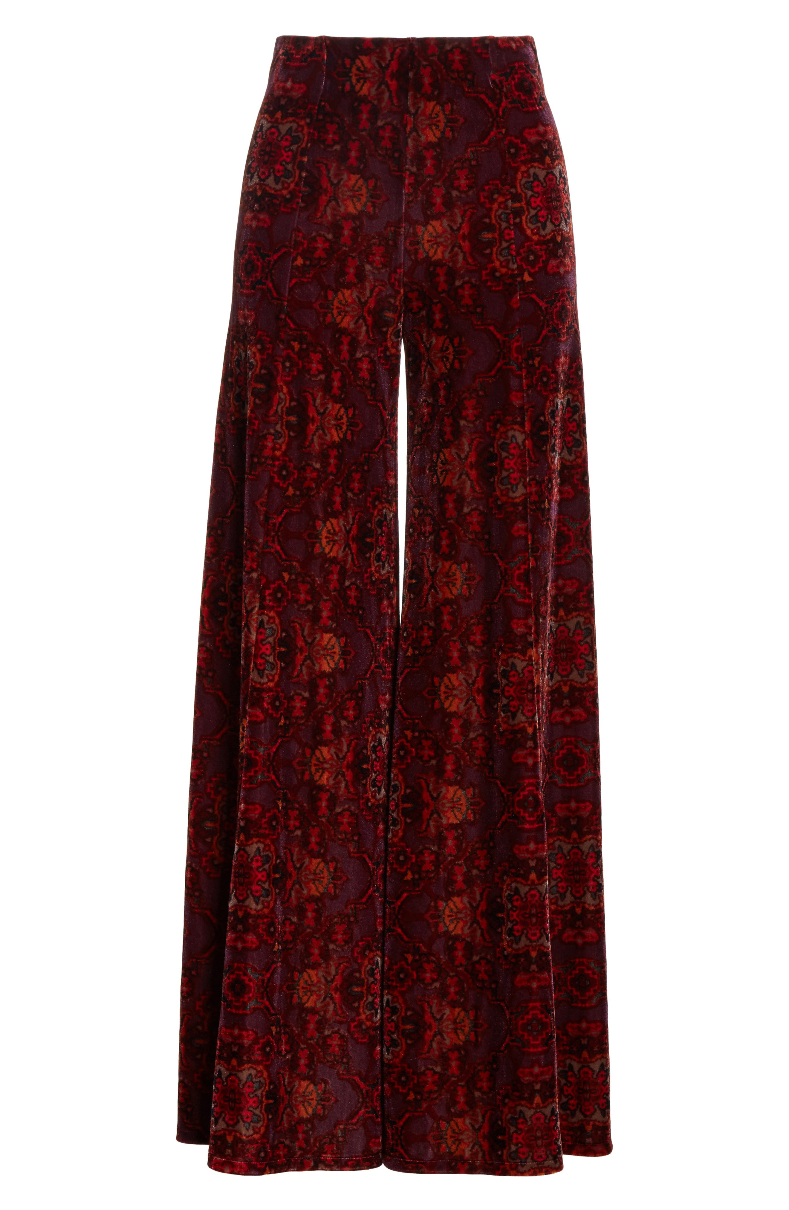 Alternate Image 7  - Free People Lovin' Feeling Velvet Wide Leg Pants