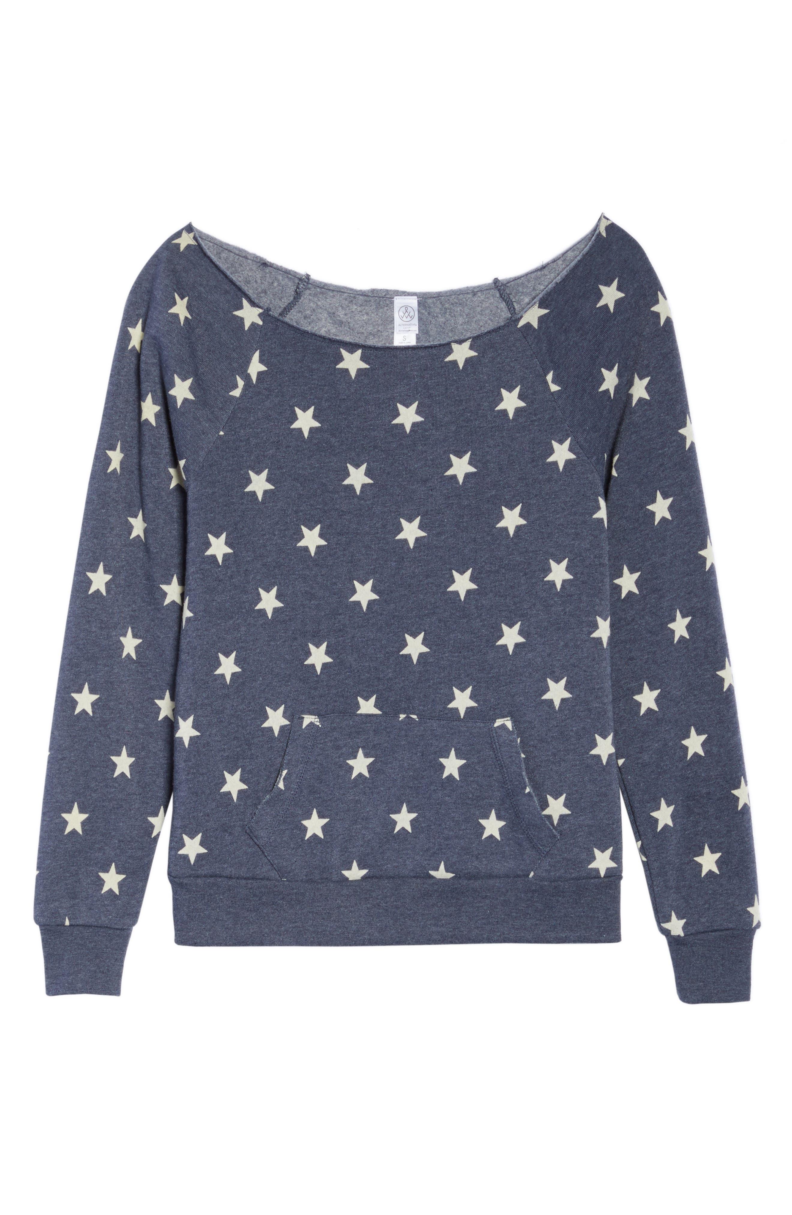 Maniac Camo Fleece Sweatshirt,                             Alternate thumbnail 6, color,                             Stars