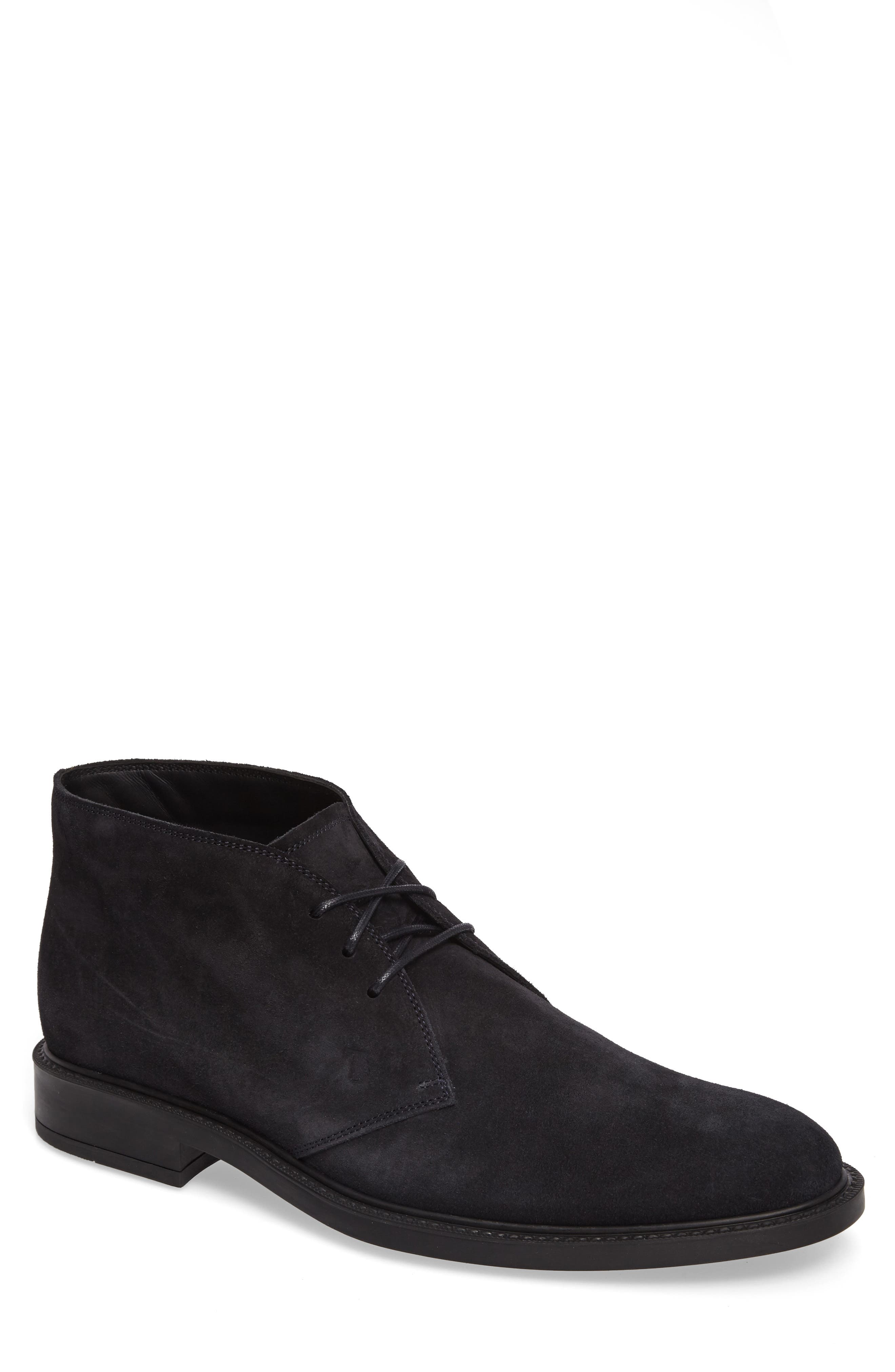 Tod's Men's Polacco Suede Chukka Boots In Navy Suede
