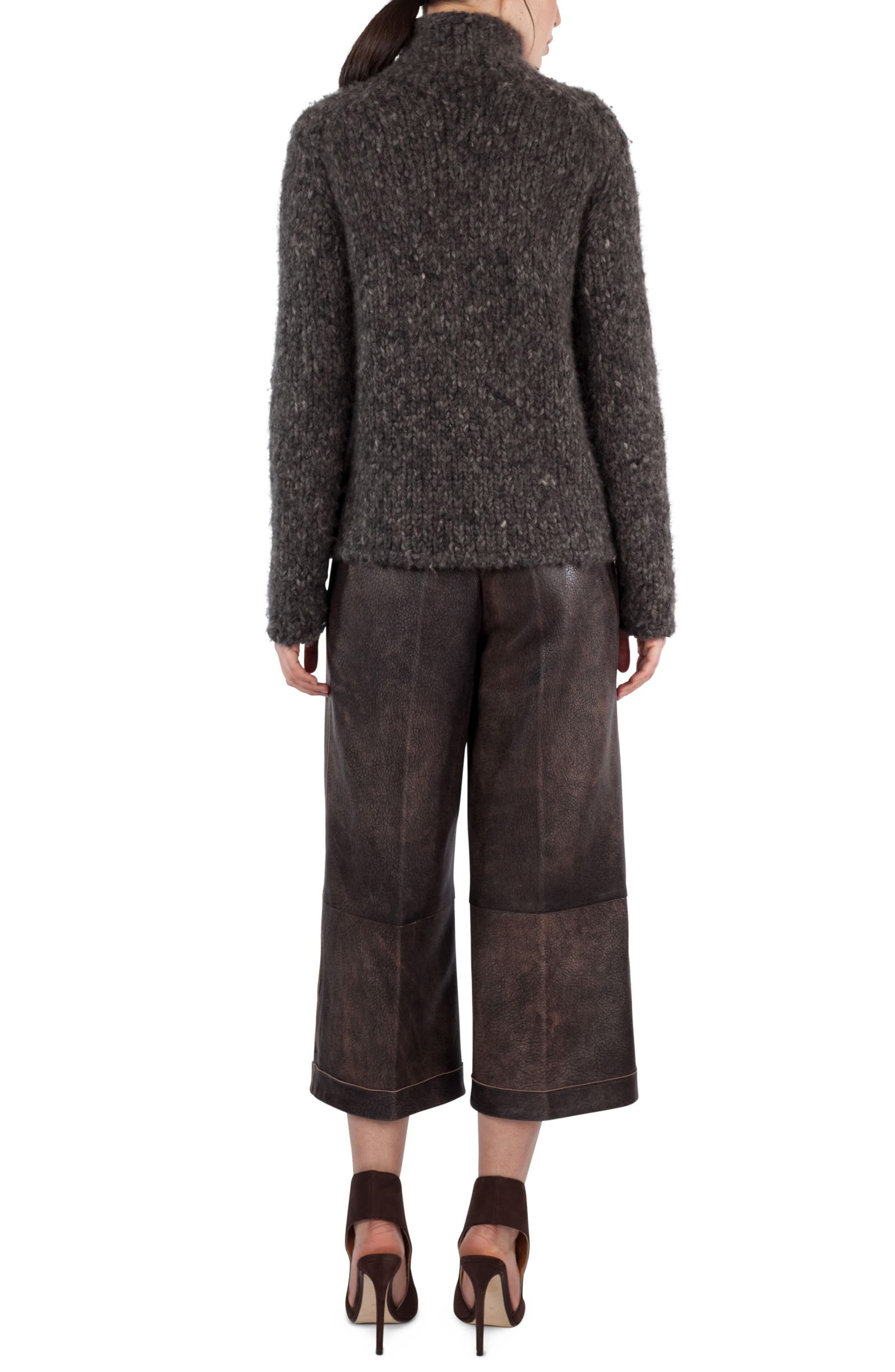 Mélange Wool & Cashmere Sweater,                             Alternate thumbnail 2, color,                             Taupe