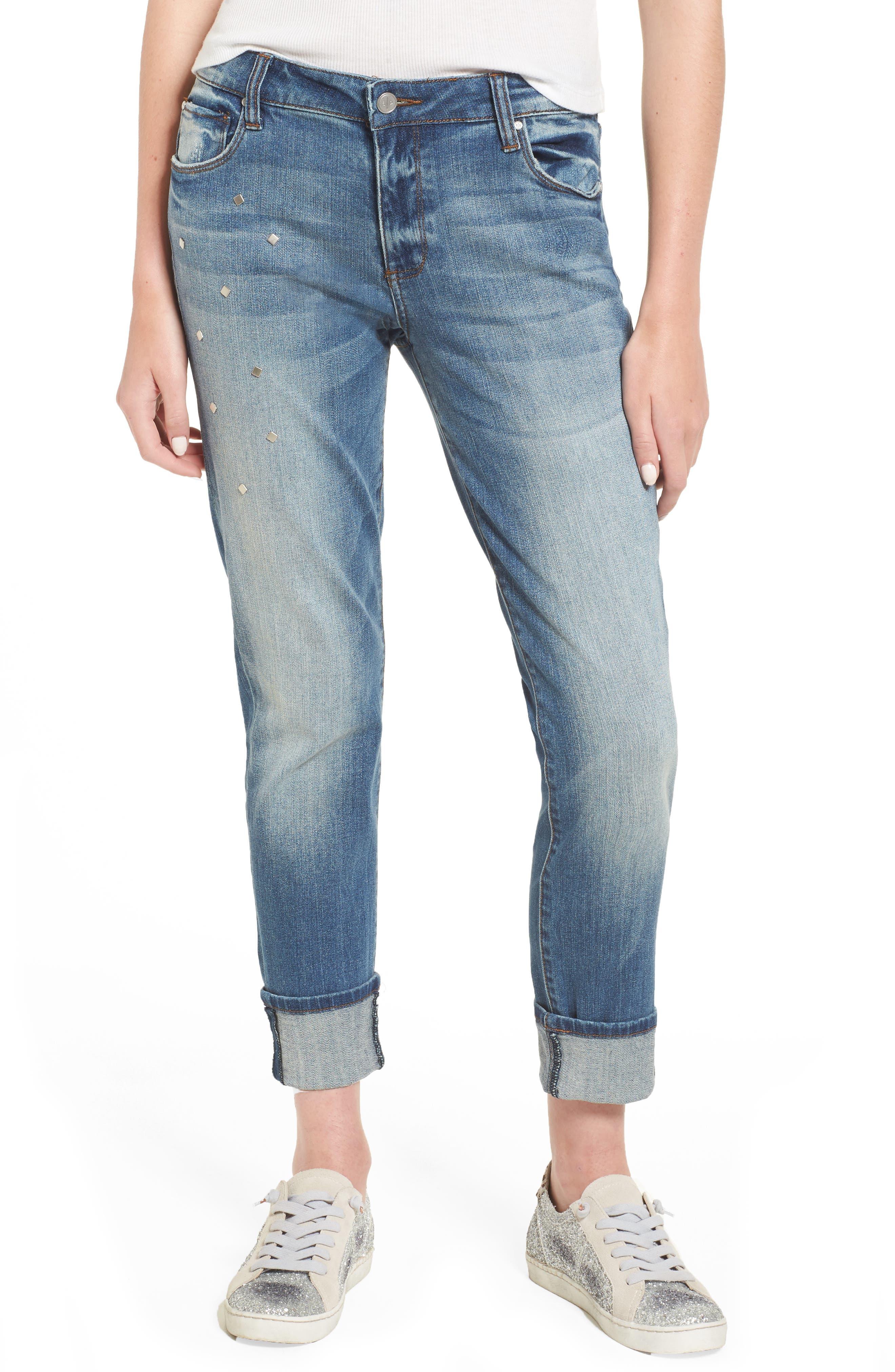 BP. Studded Straight Leg Jeans