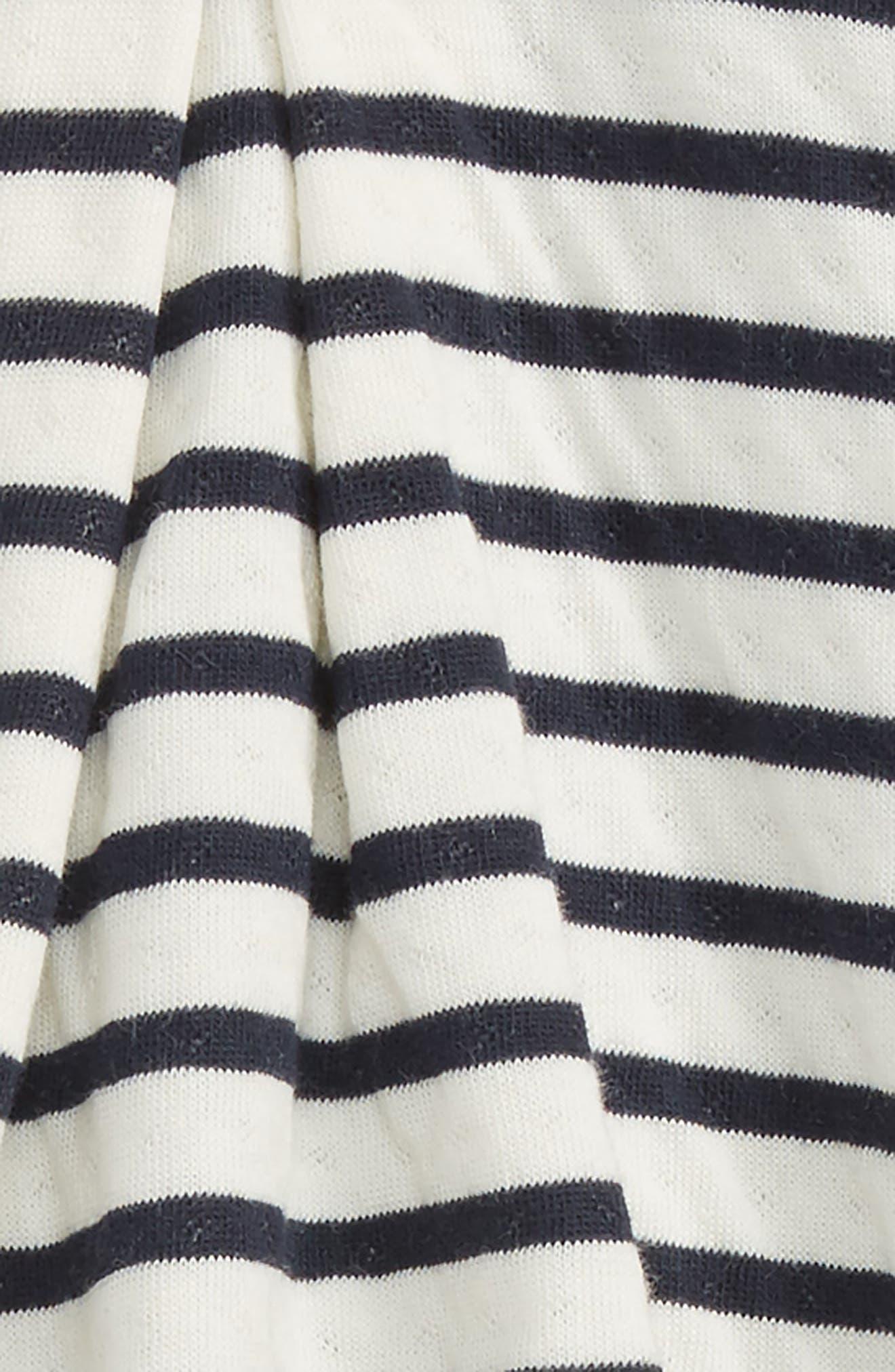 Alternate Image 2  - Petit Bateau Stripe Romper (Baby Girls)