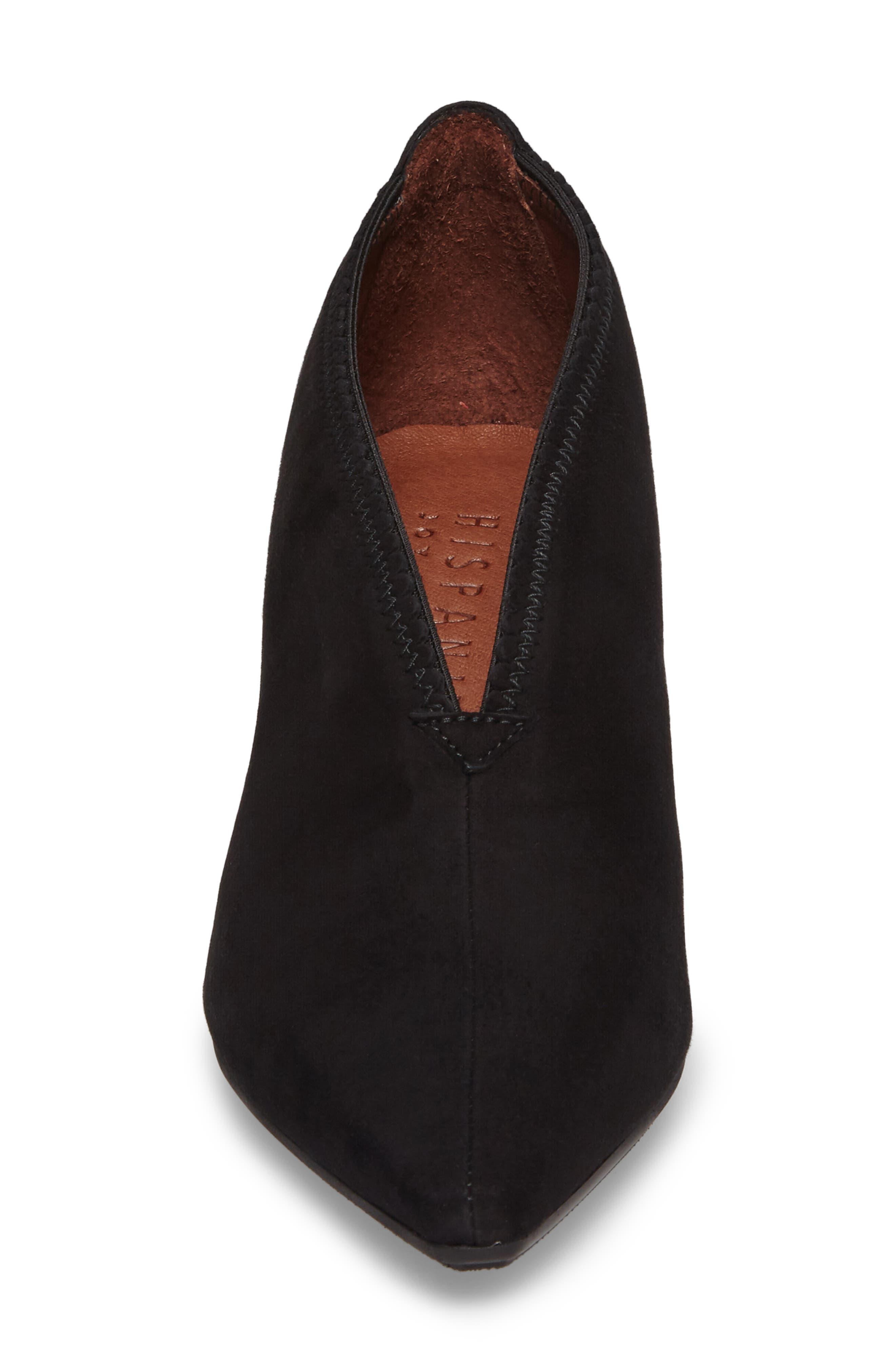 Connie Block Heel Pump,                             Alternate thumbnail 4, color,                             Ante Black Leather