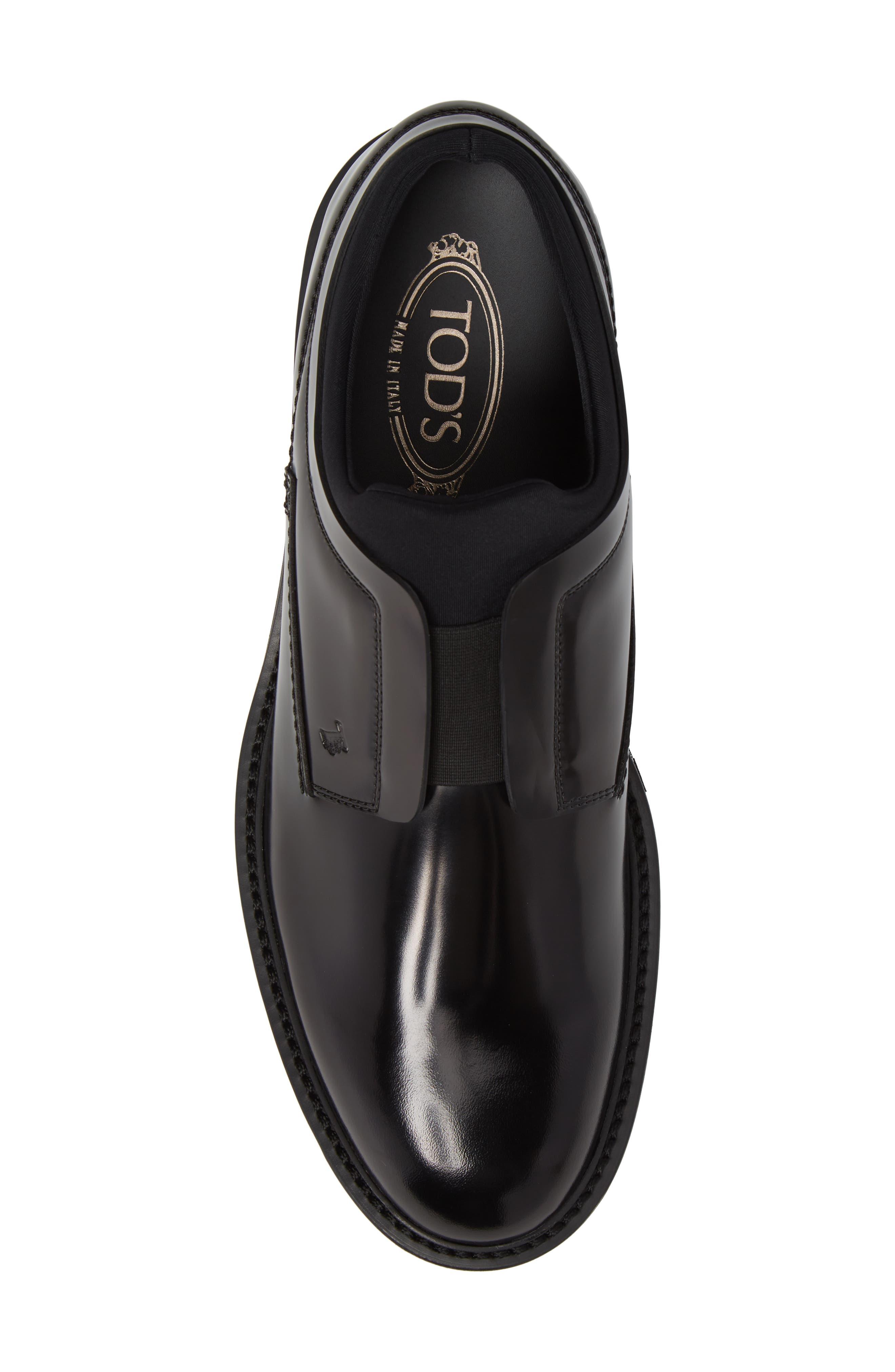 Plain Toe Derby,                             Alternate thumbnail 5, color,                             Black Leather