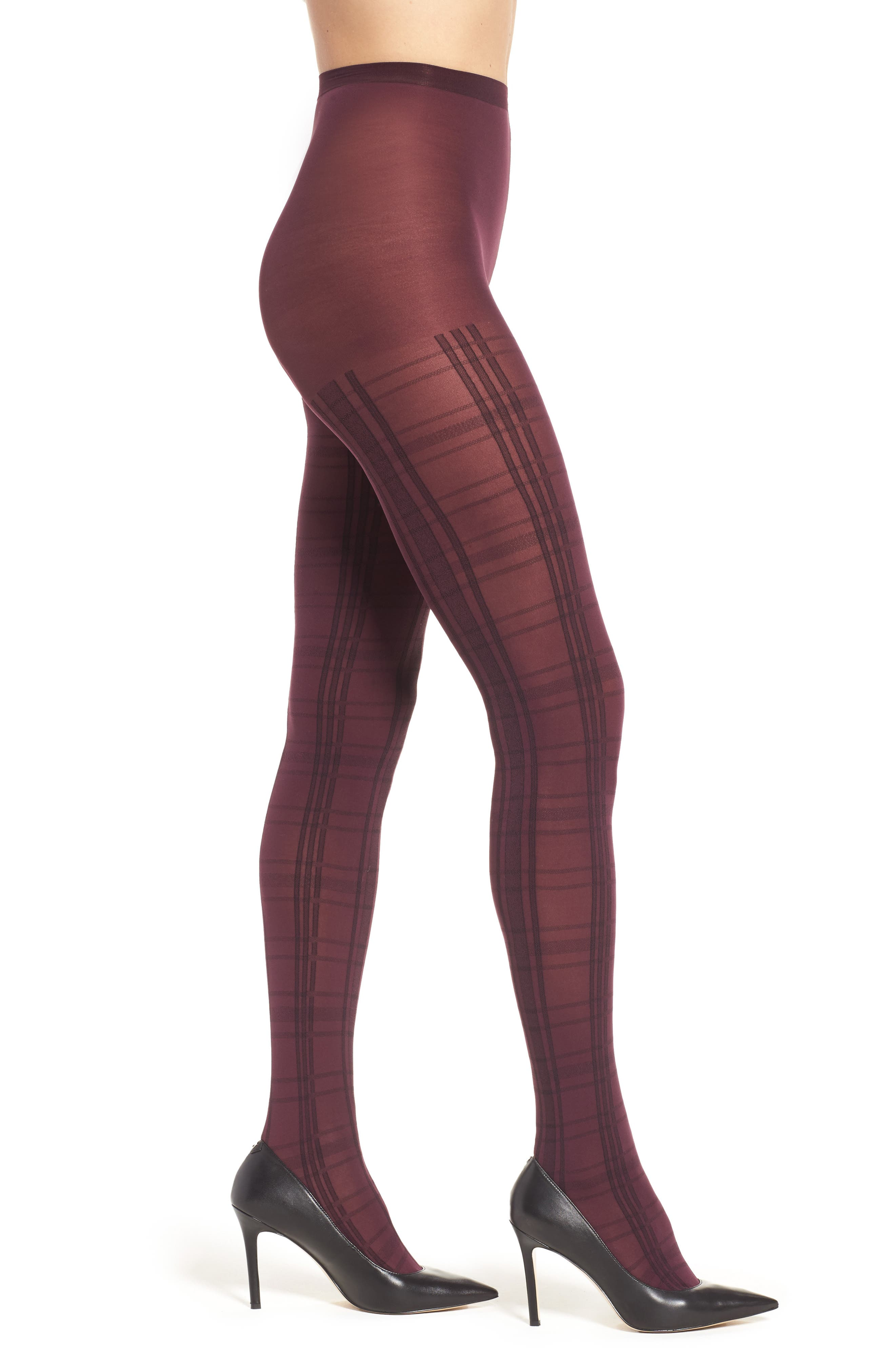 Hue Plaid Control Top Tights