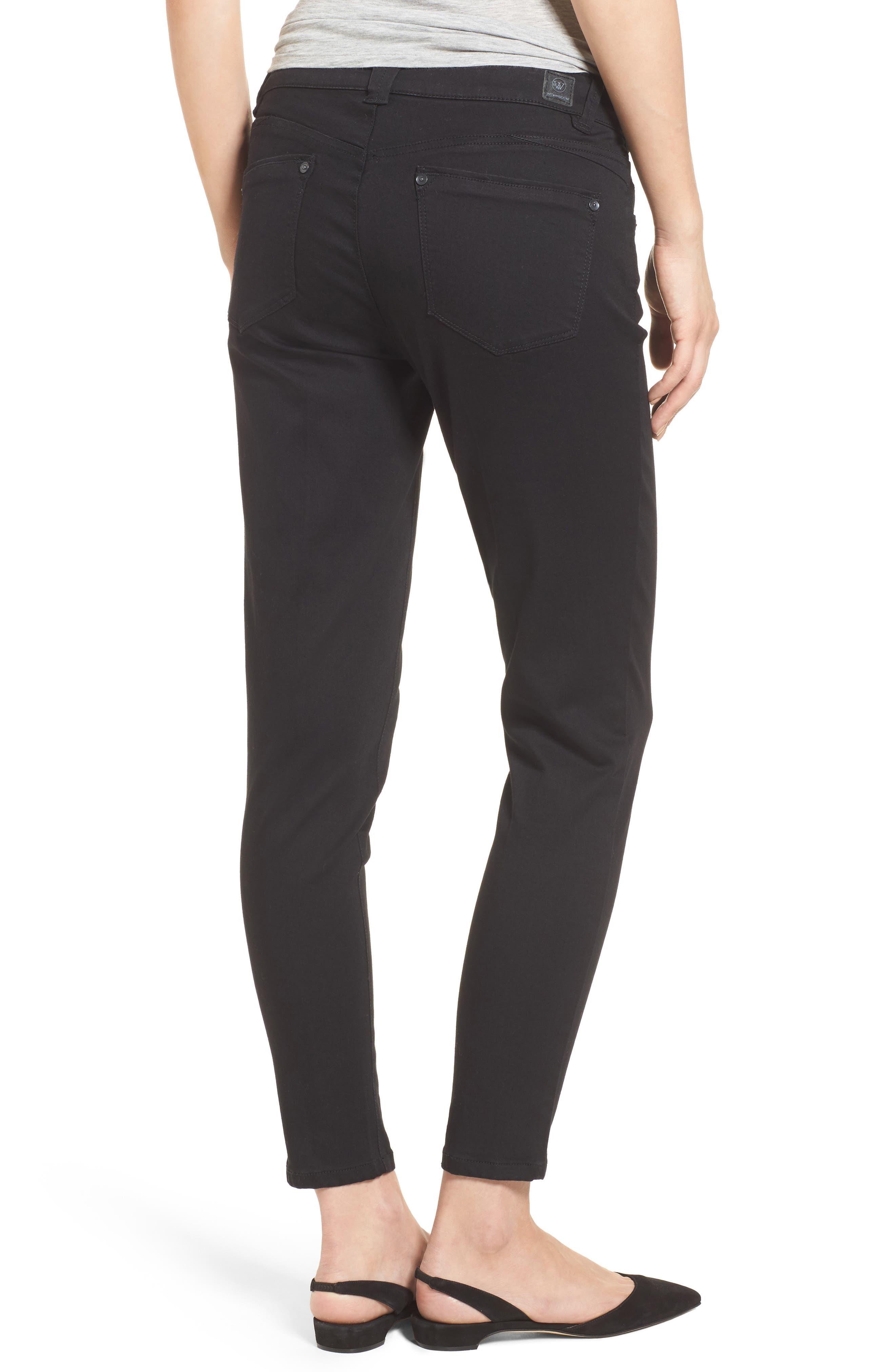 Skinny Ankle Jeans,                             Alternate thumbnail 2, color,                             Black
