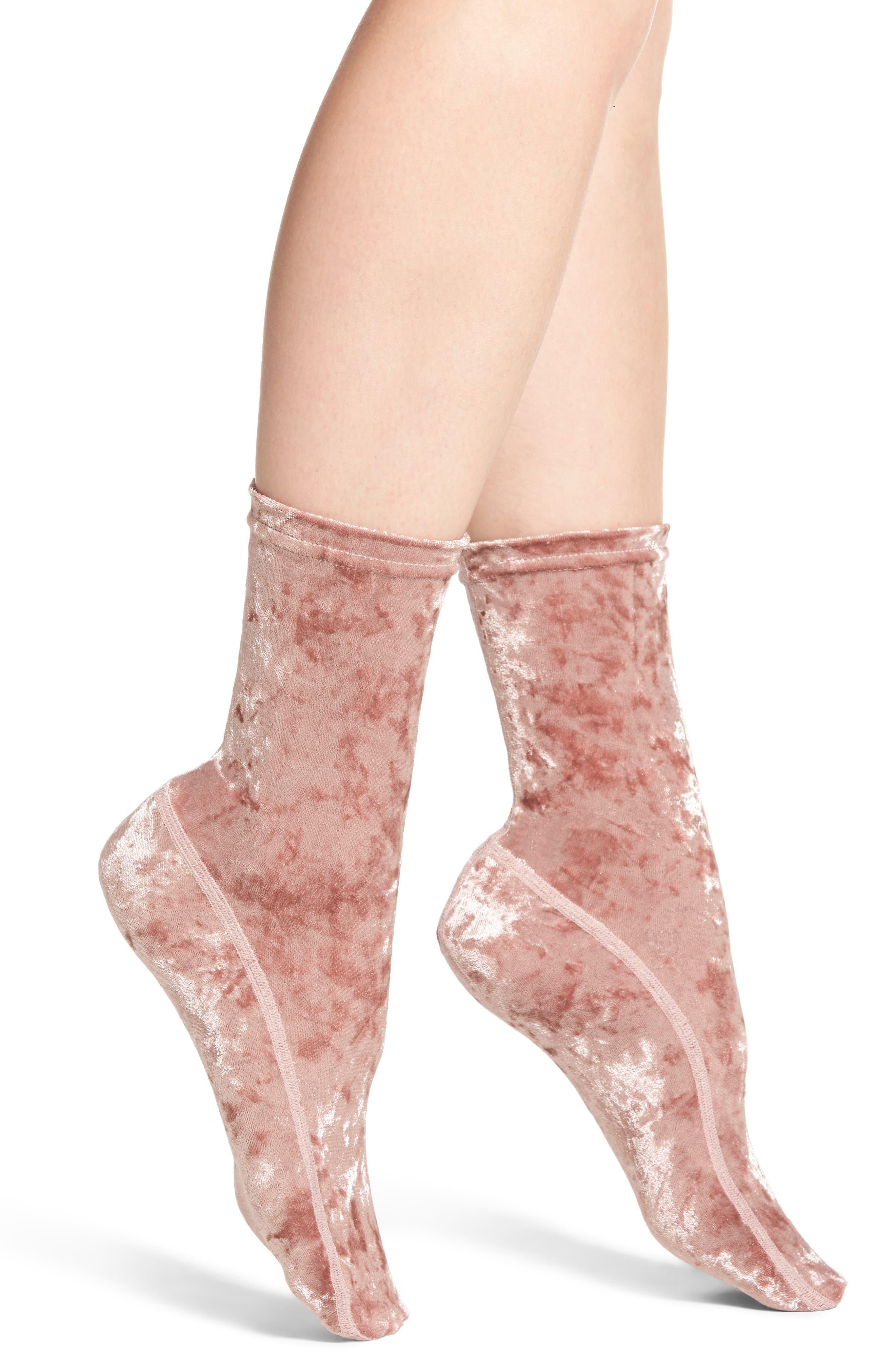 Nordstrom Crushed Velvet Socks
