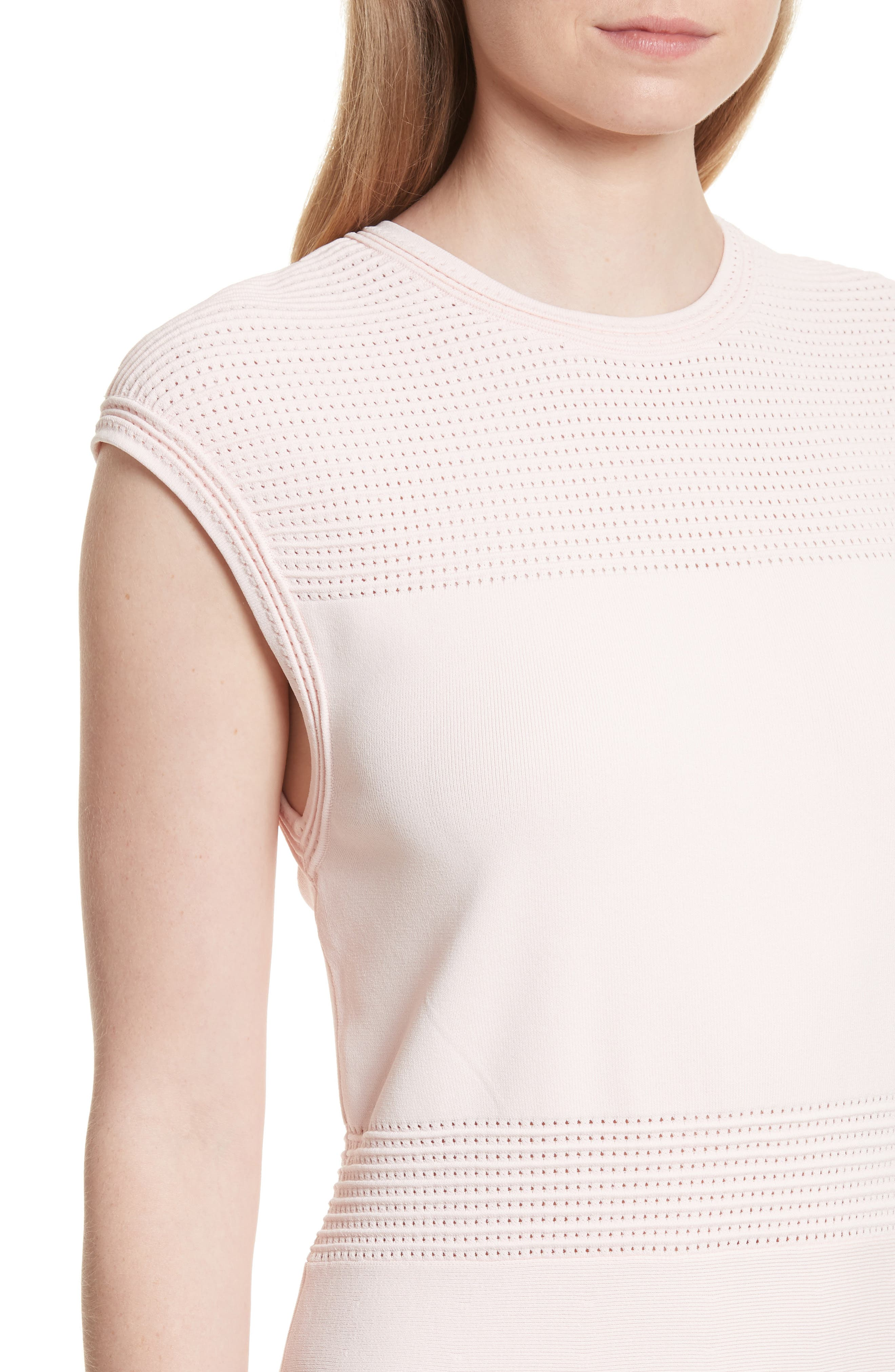 Aurbray Knit Skater Dress,                             Alternate thumbnail 4, color,                             Nude Pink