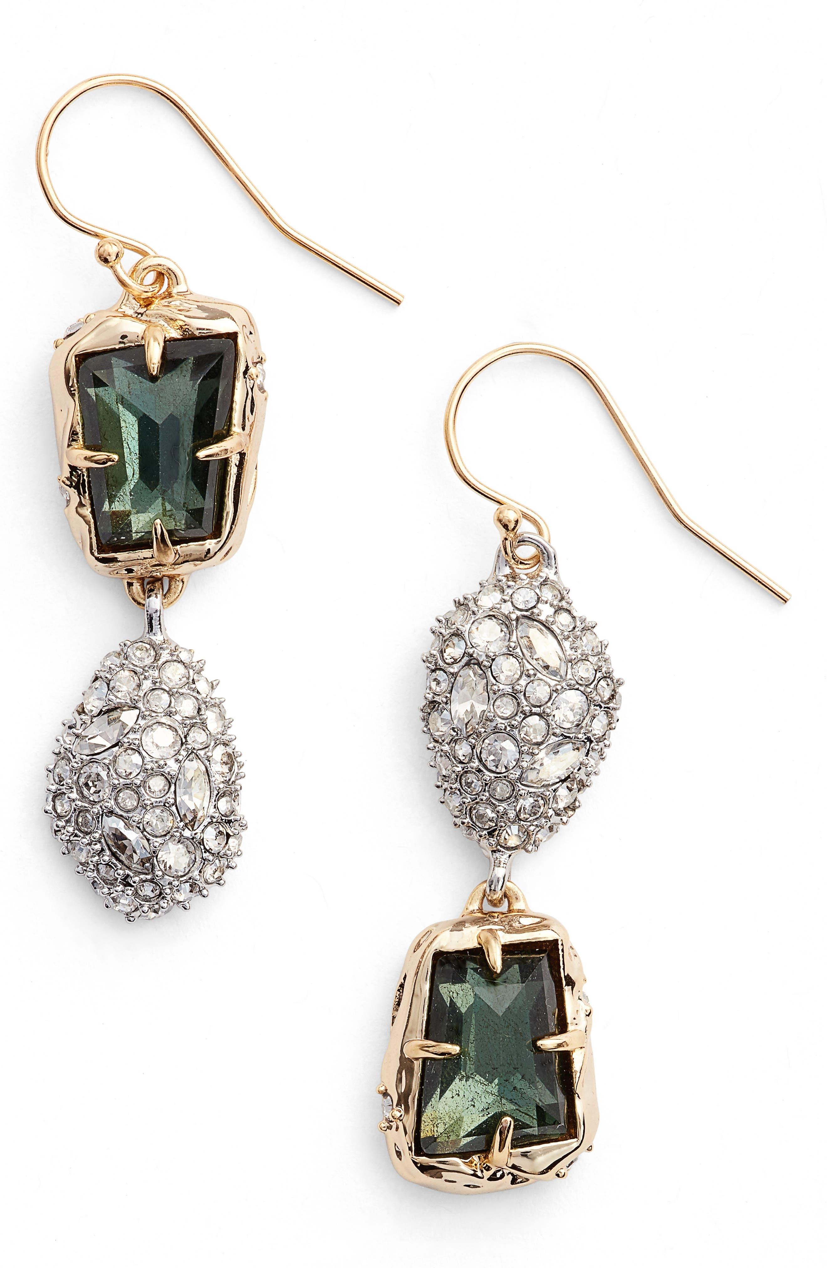 Elements Crystal Drop Earrings,                         Main,                         color, Gold