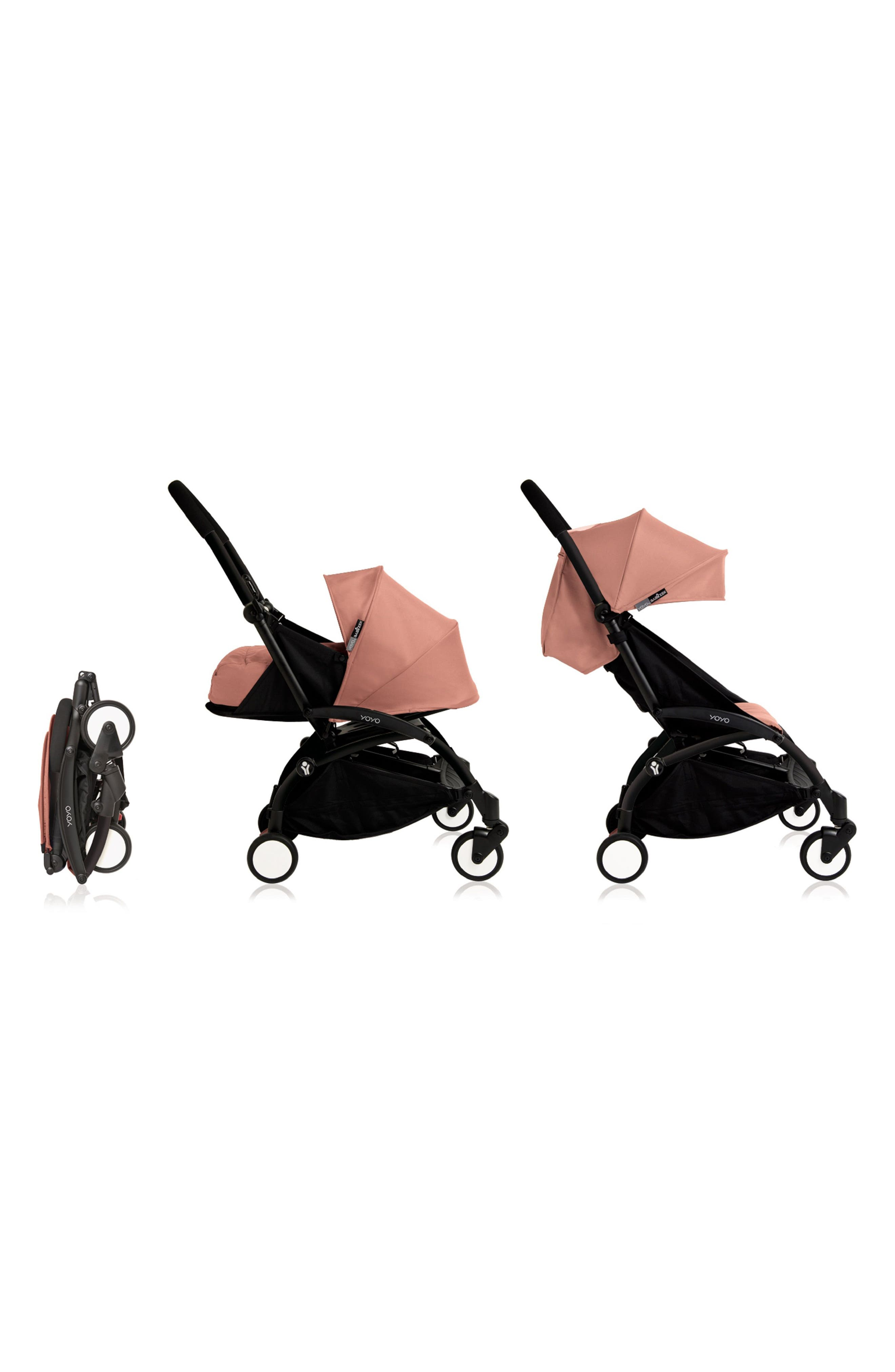 BABYZEN YOYO+ Complete Stroller with Newborn Color Pack Fabric Set,                             Alternate thumbnail 2, color,                             Ginger