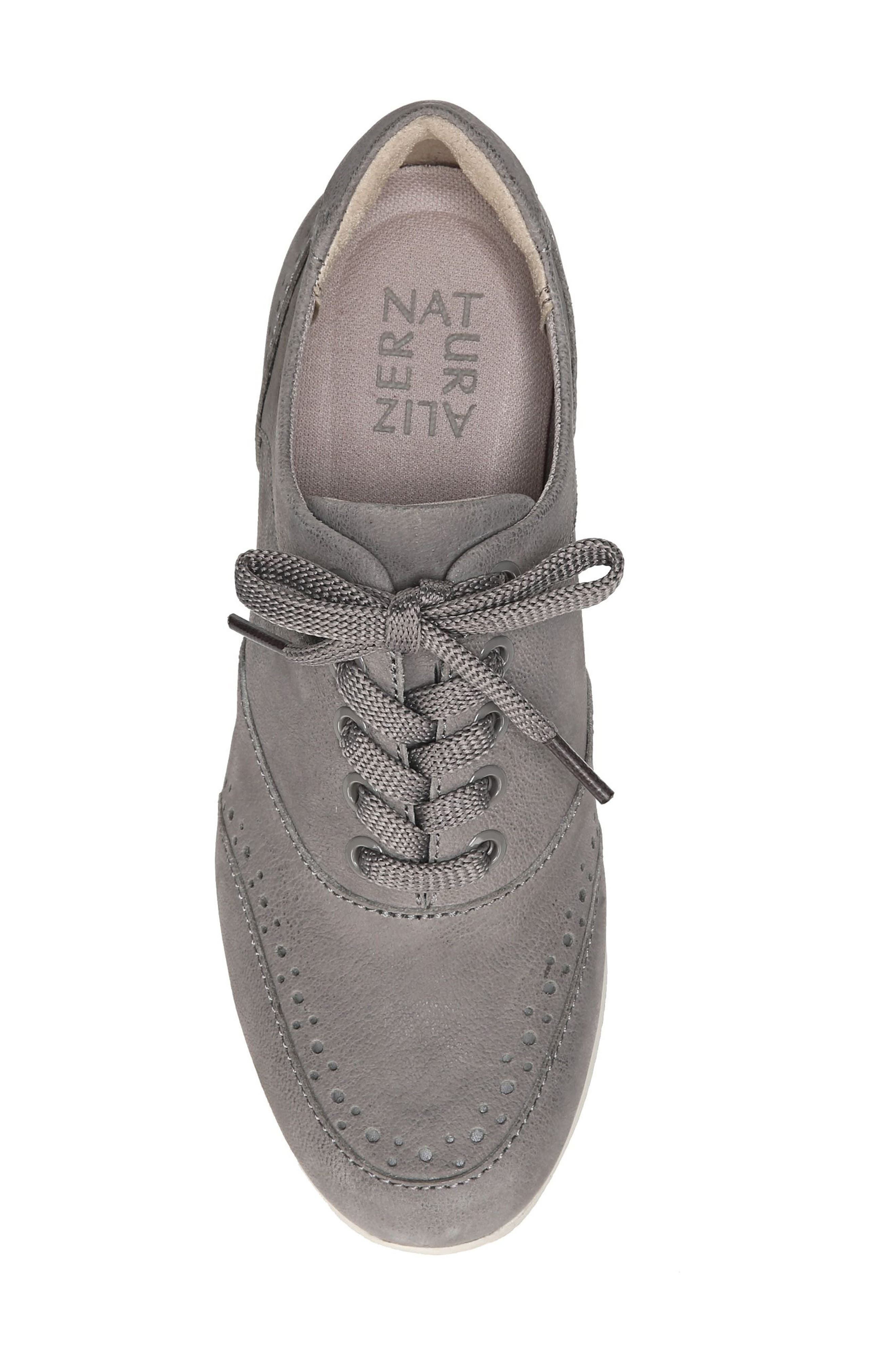Jimi 2 Perforated Sneaker,                             Alternate thumbnail 5, color,                             Modern Grey Nubuck Leather
