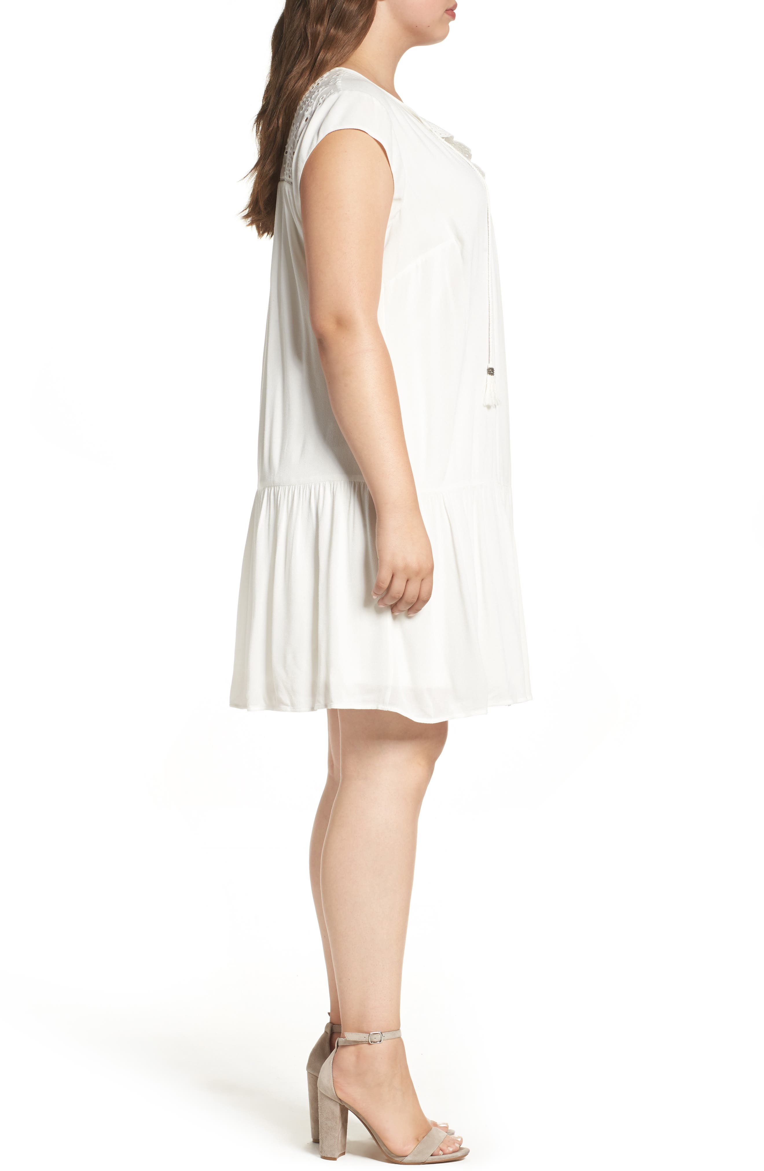 Alternate Image 3  - Daniel Rainn Crochet Trim Dress (Plus Size)