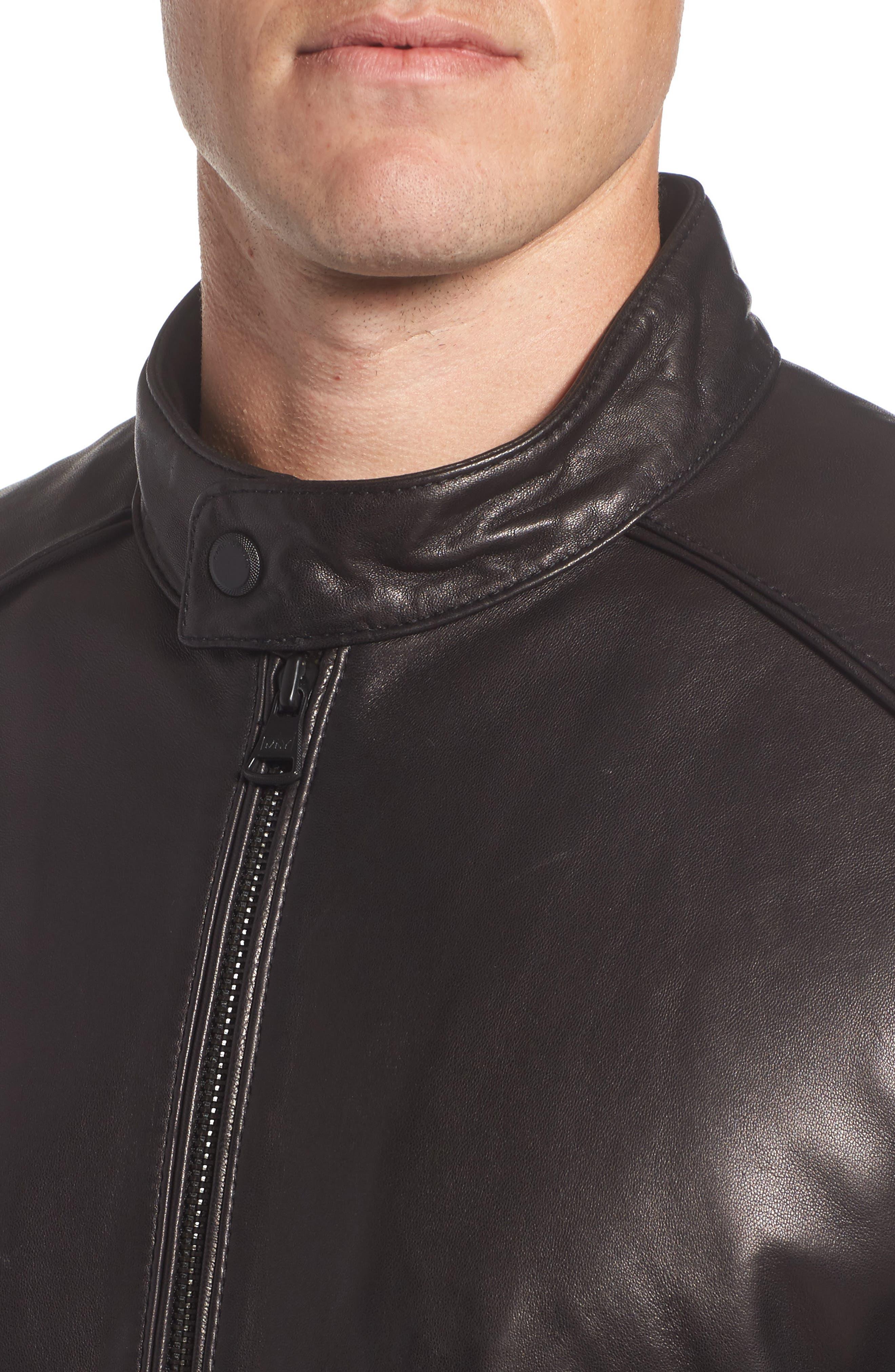 Alternate Image 4  - Marc New York Tuers Lambskin Leather Moto Jacket