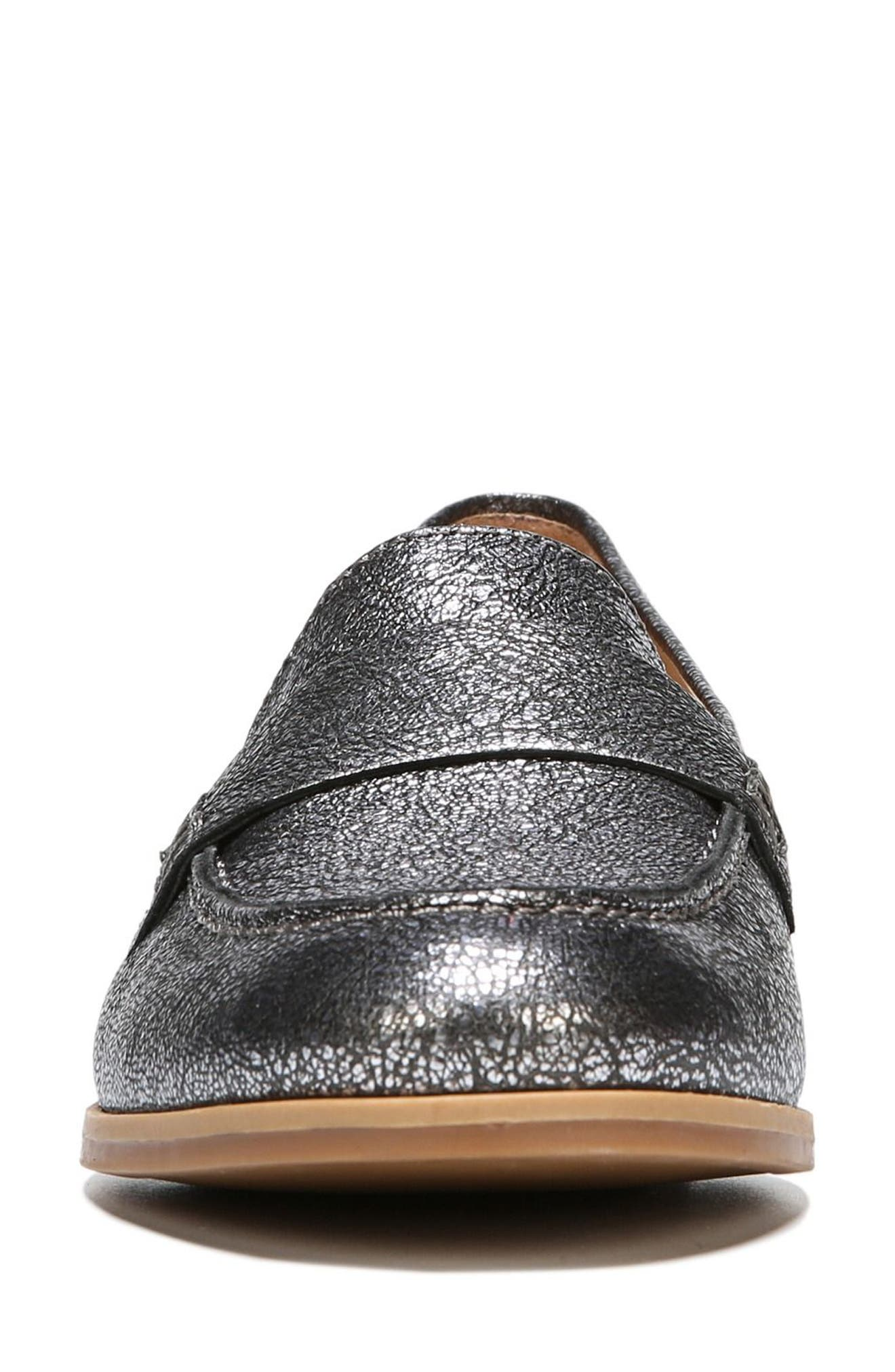 Veronica Loafer,                             Alternate thumbnail 4, color,                             Silver Leather
