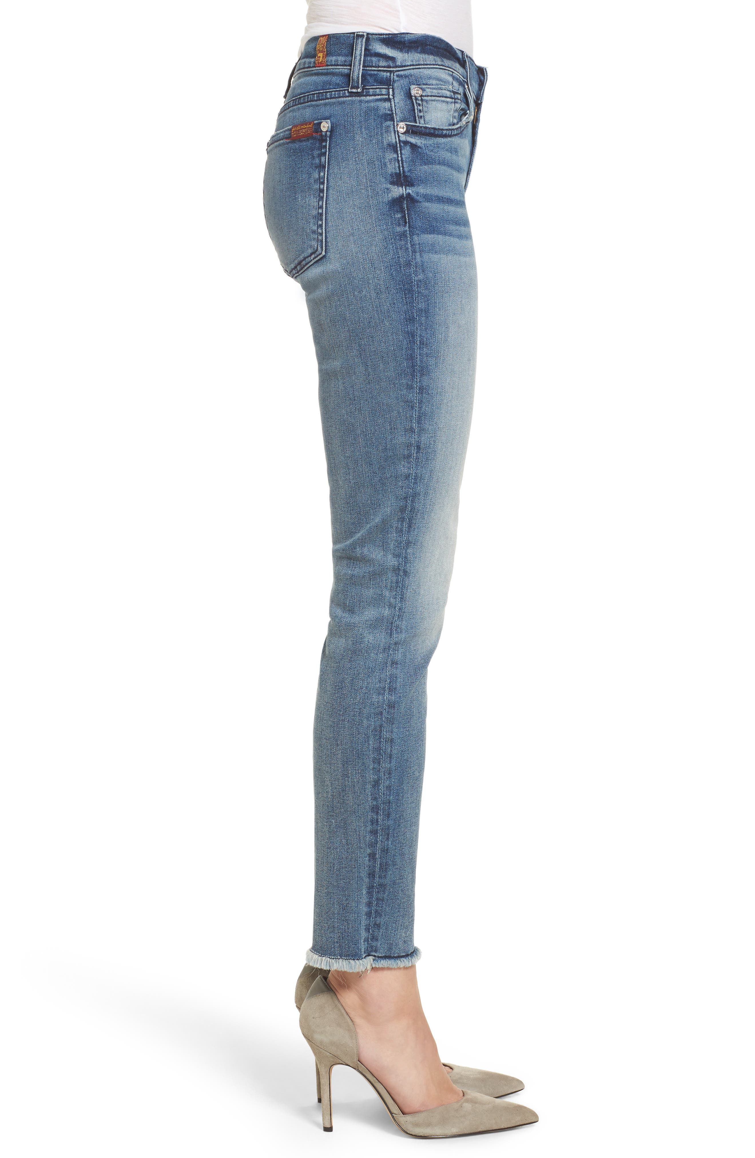 Alternate Image 3  - 7 For All Mankind® Roxanne Ankle Straight Leg Jeans (Wall Street Heritage)