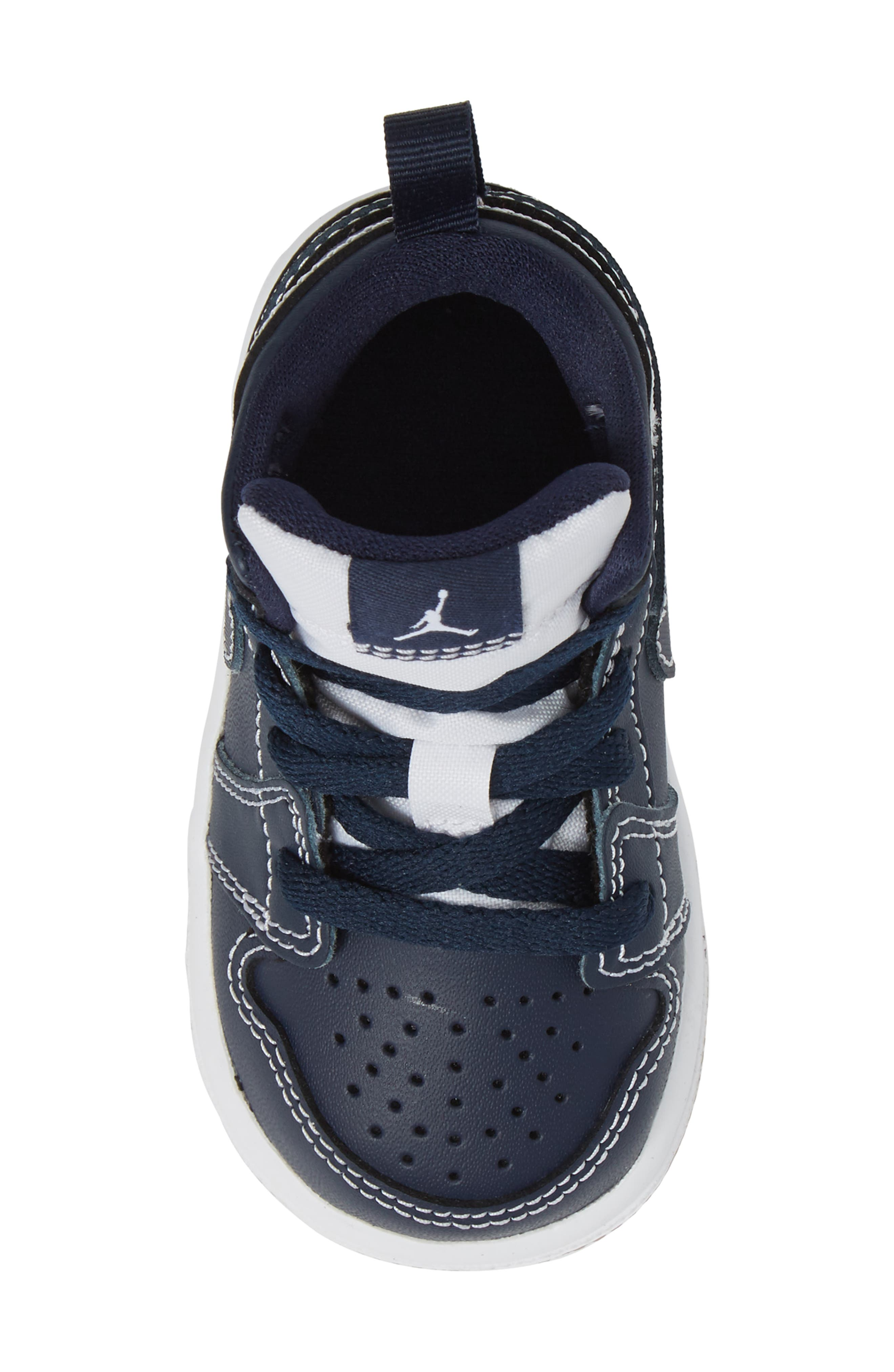 Alternate Image 5  - Nike 'Air Jordan 1' Mid Sneaker (Baby, Walker & Toddler)