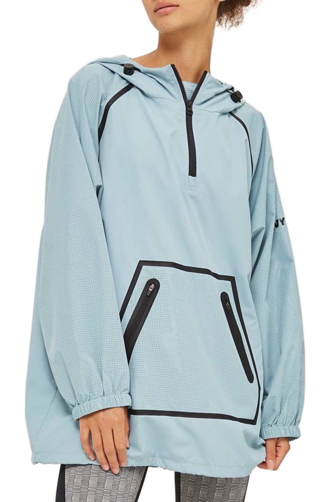 Perforated Pullover Jacket,                             Main thumbnail 1, color,                             Porcelain Blue