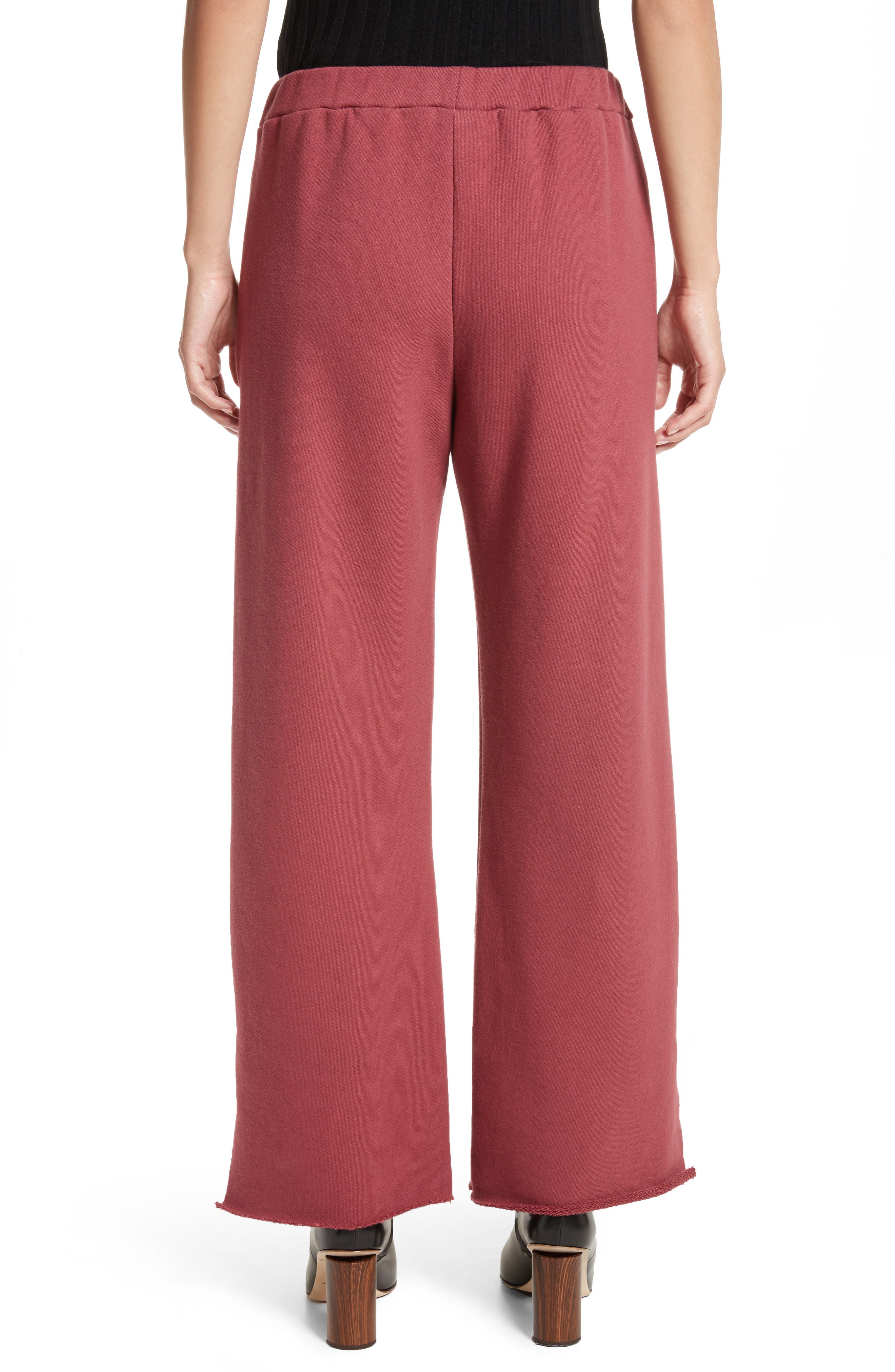 Canal French Terry Sweatpants,                             Alternate thumbnail 2, color,                             Tegola Pink
