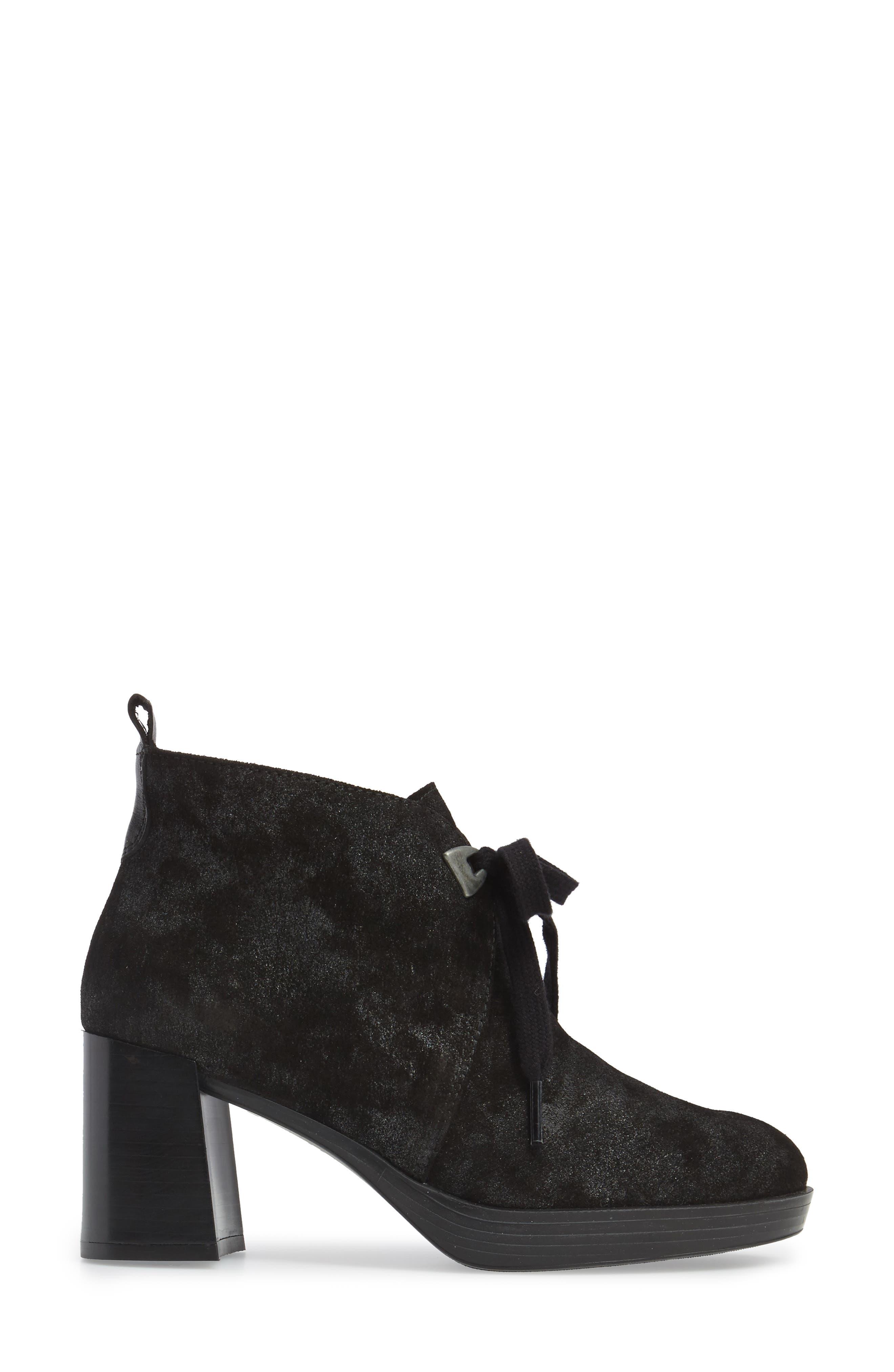 Dasia Bow Bootie,                             Alternate thumbnail 3, color,                             Brut Black Leather