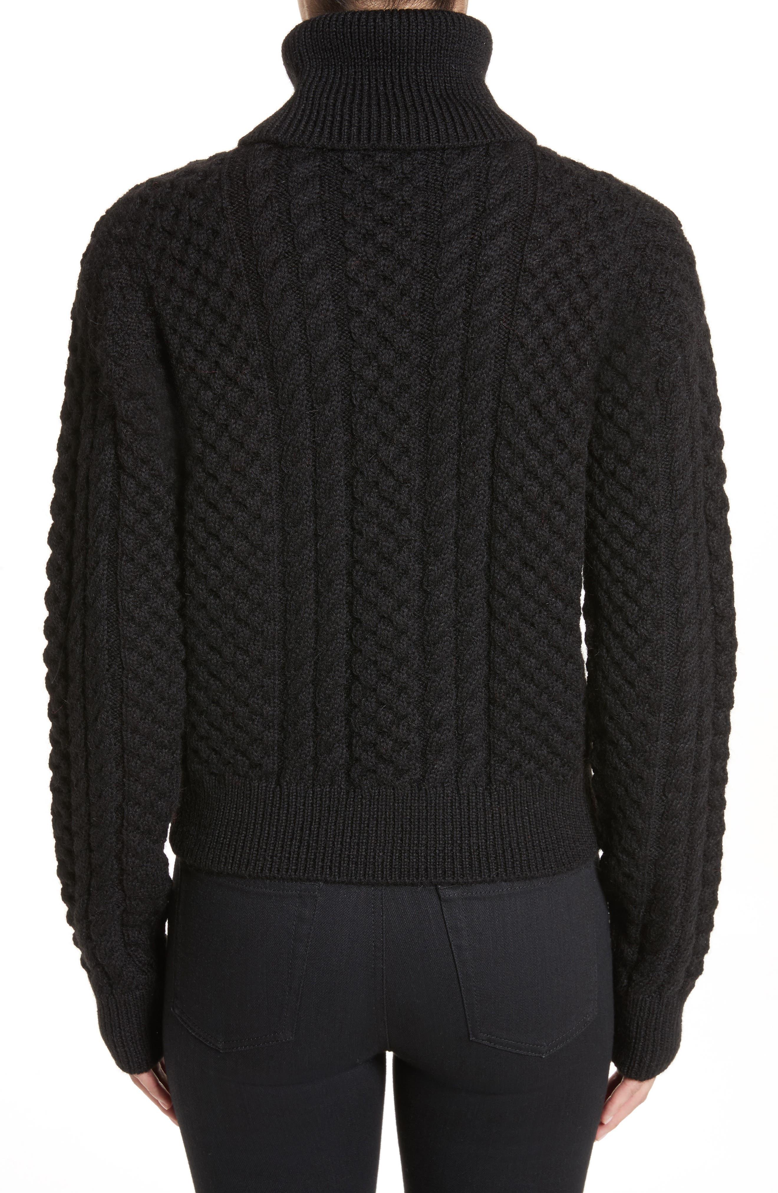 Alternate Image 2  - Saint Laurent Cable Knit Wool Turtleneck Sweater