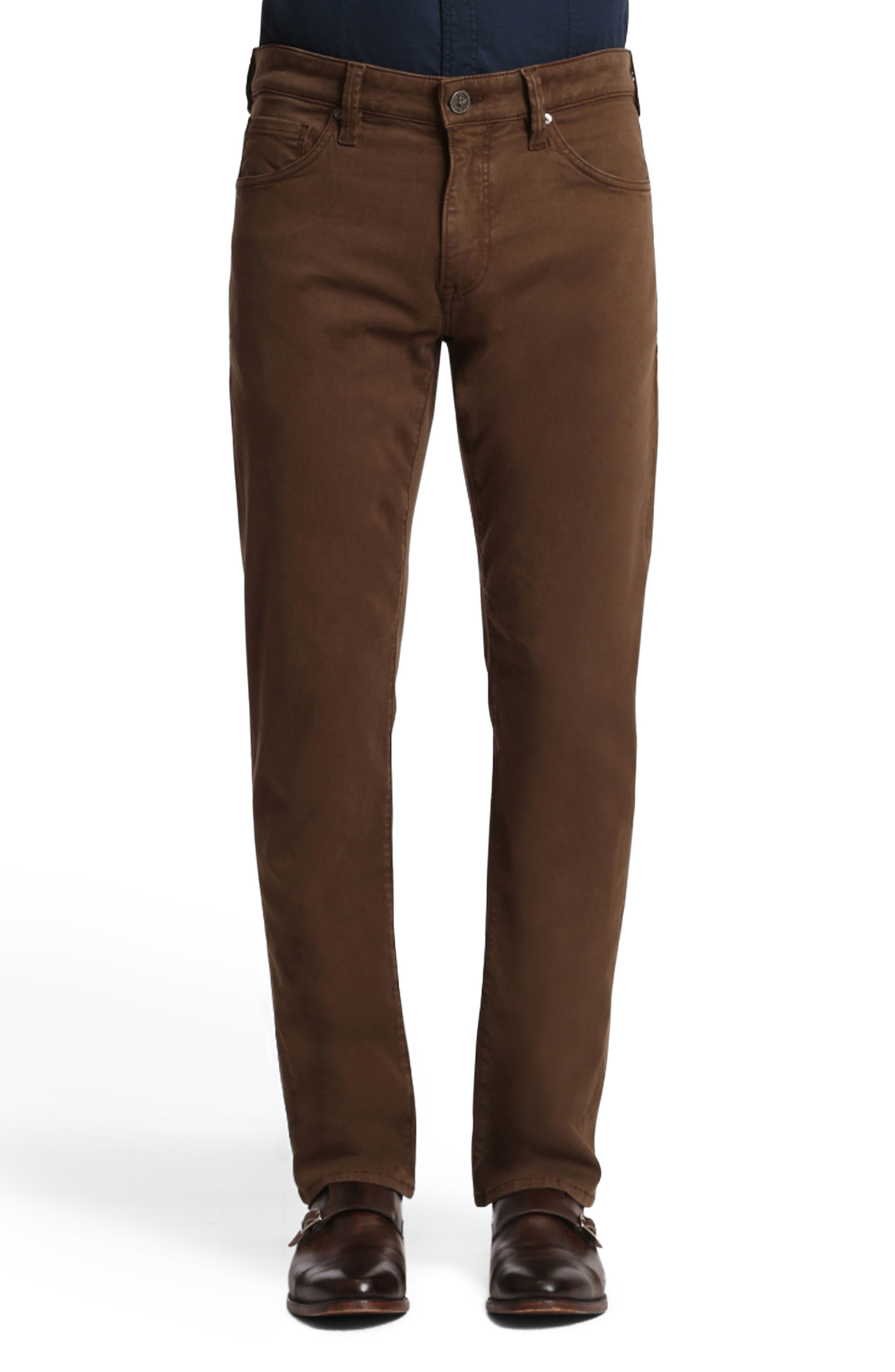 Courage Straight Leg Twill Pants,                         Main,                         color, Choco Twill