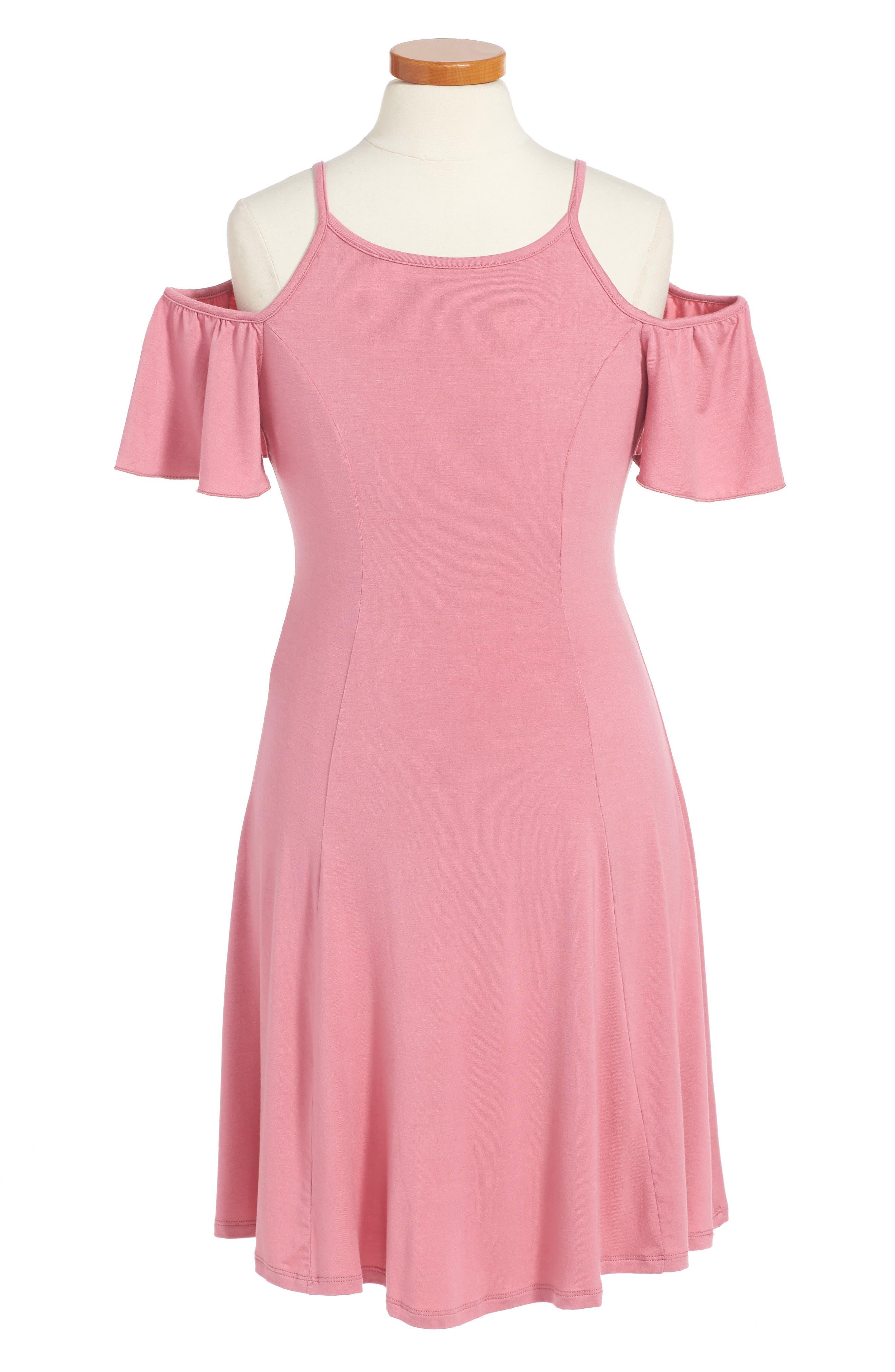 Abigail Cold Shoulder Dress,                         Main,                         color, Mauve