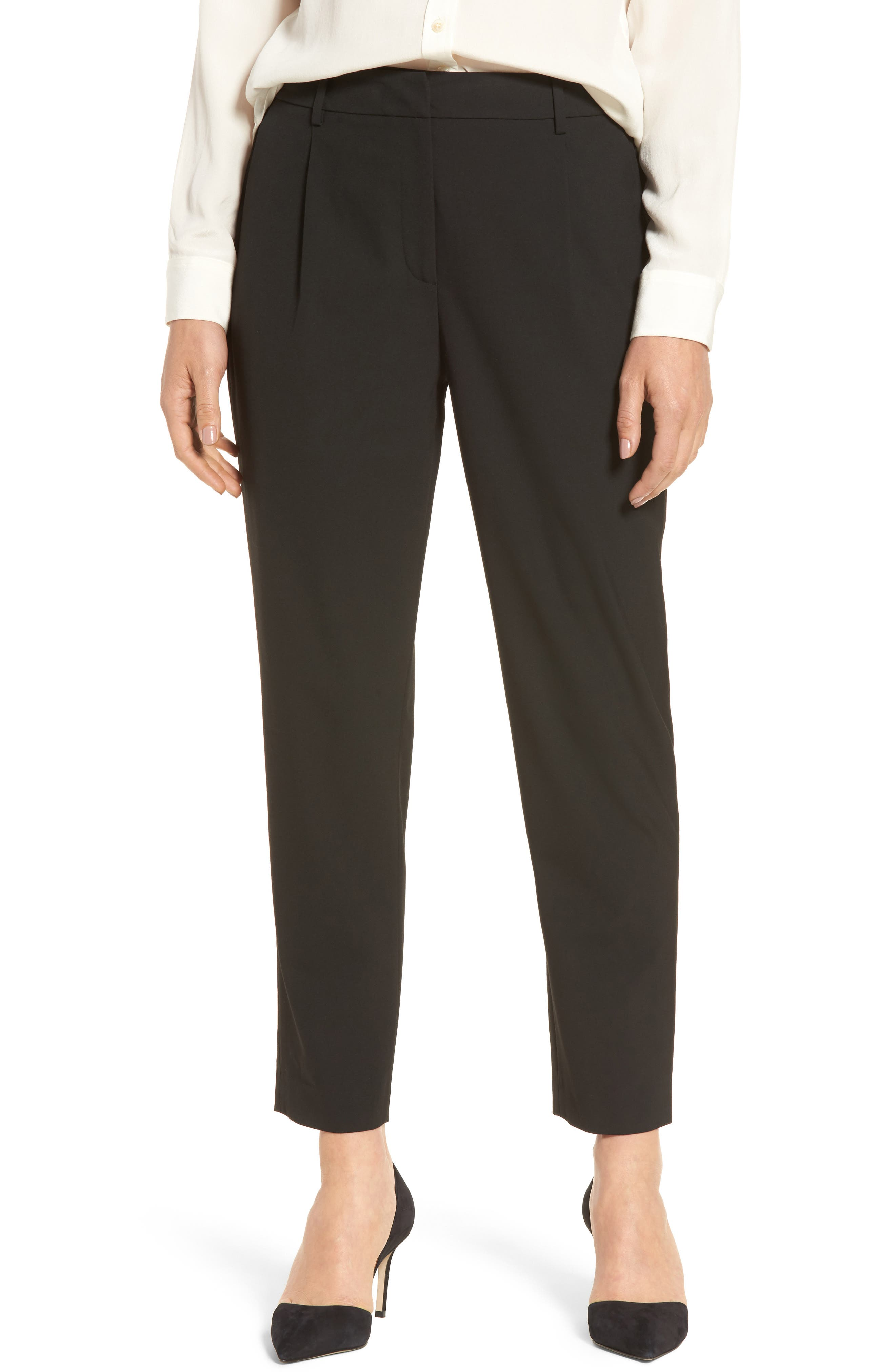 Relaxed Ankle Pants,                         Main,                         color, Black
