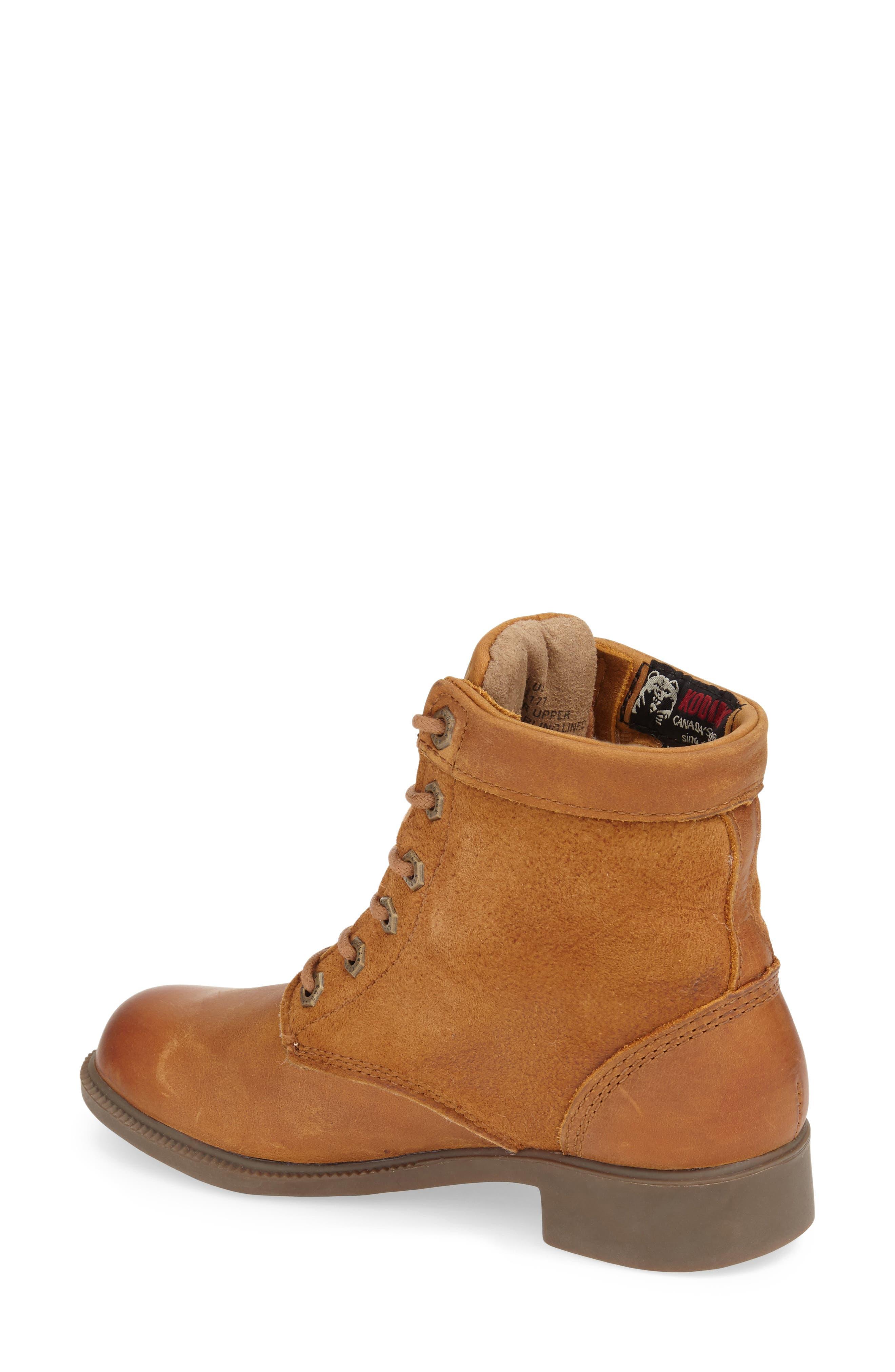 Original Waterproof Genuine Shearling Boot,                             Alternate thumbnail 2, color,                             Caramel Leather