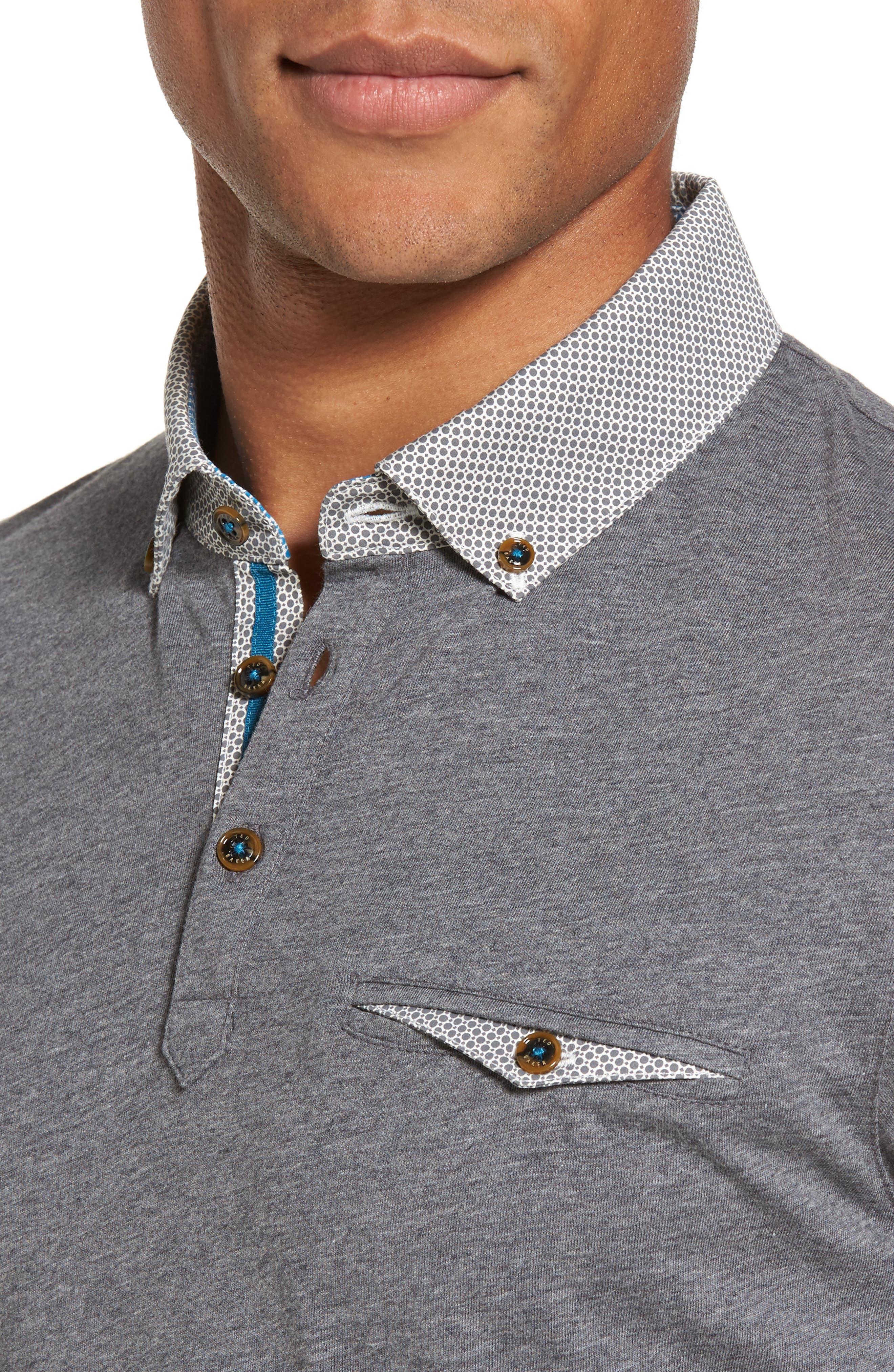 Alternate Image 4  - Ted Baker London Woven Collar Polo
