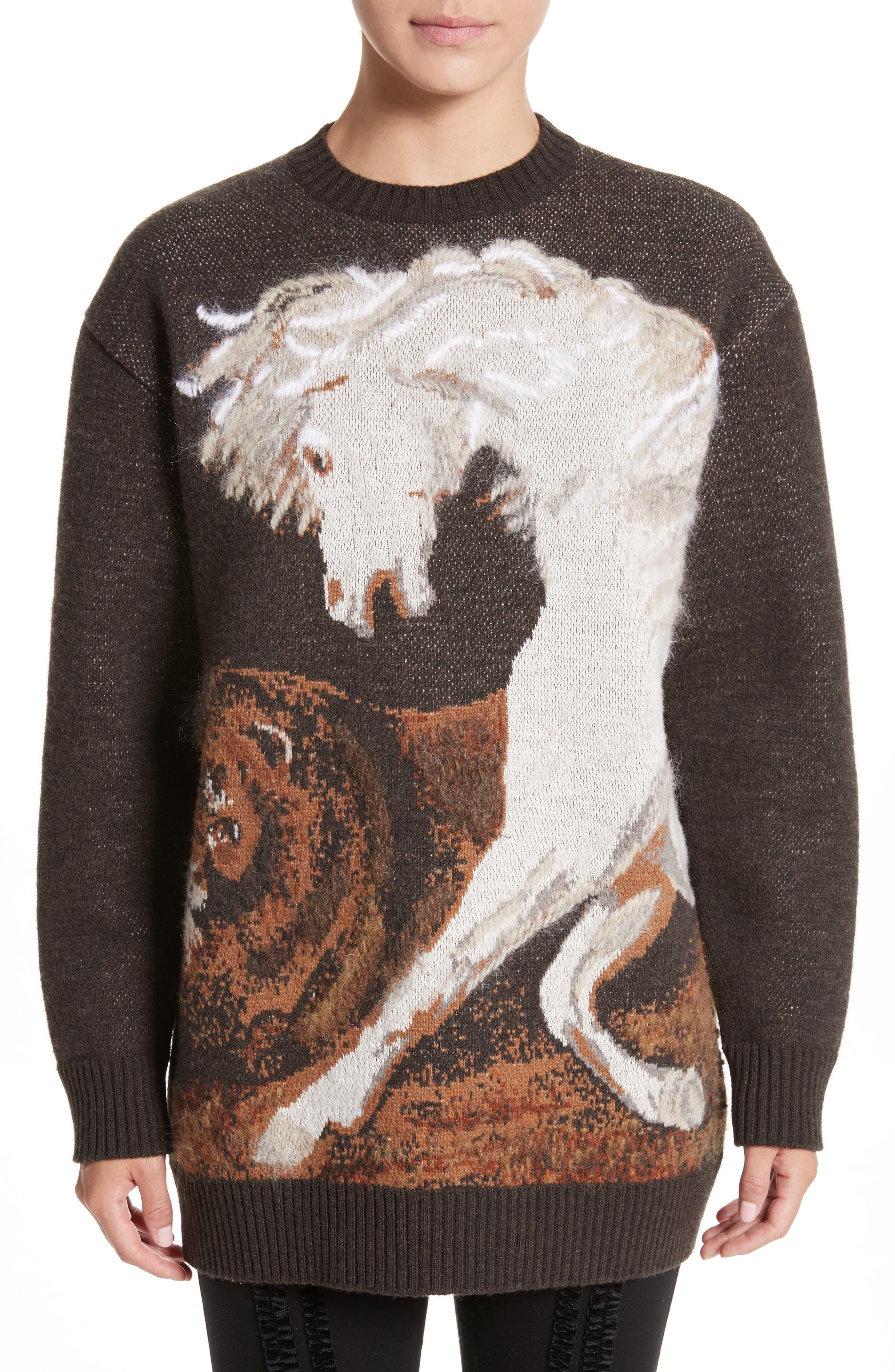 STELLA MCCARTNEY Horse Intarsia Sweater