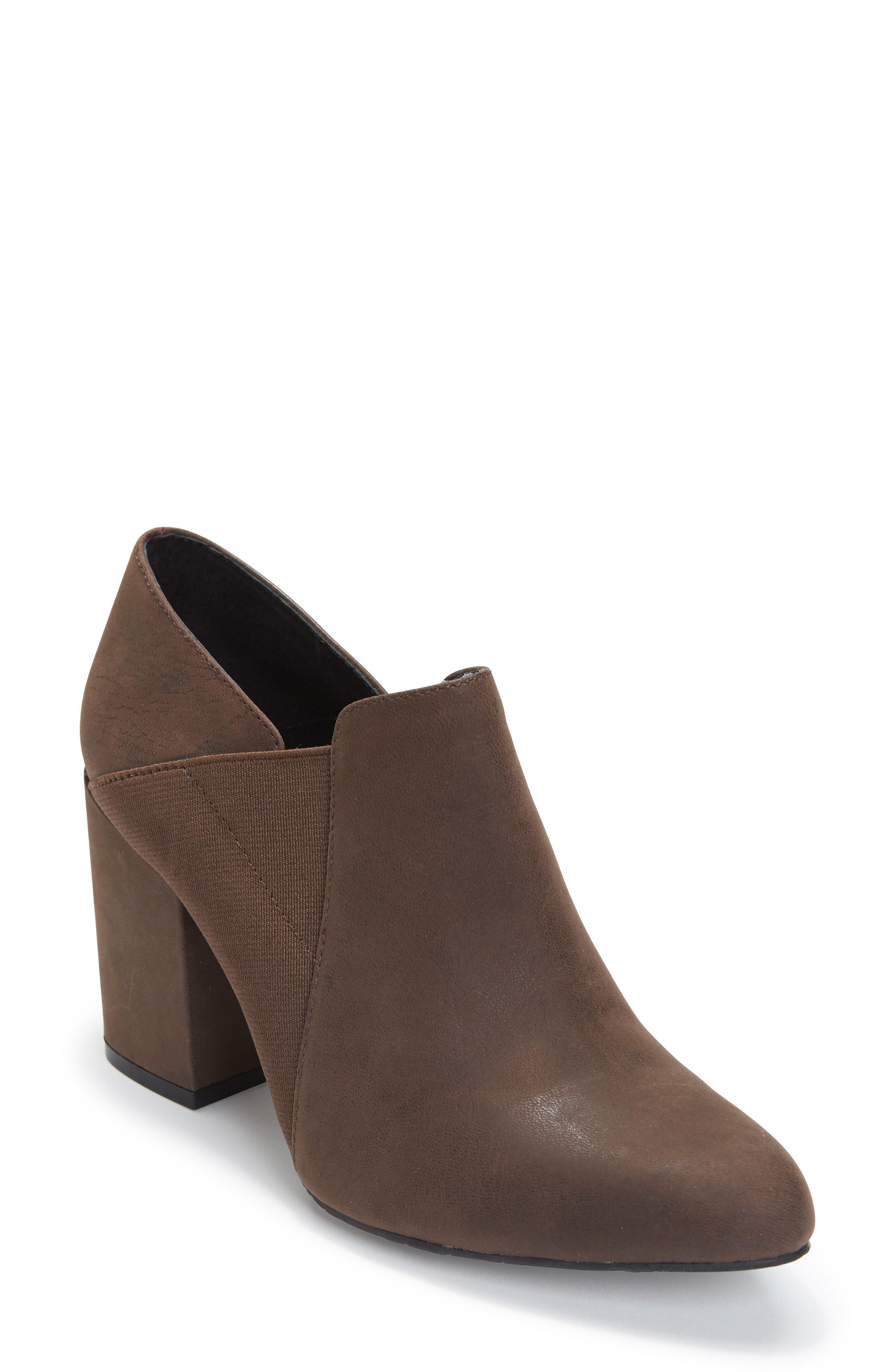 Zayna Bootie,                             Main thumbnail 1, color,                             Cuban Brown Leather