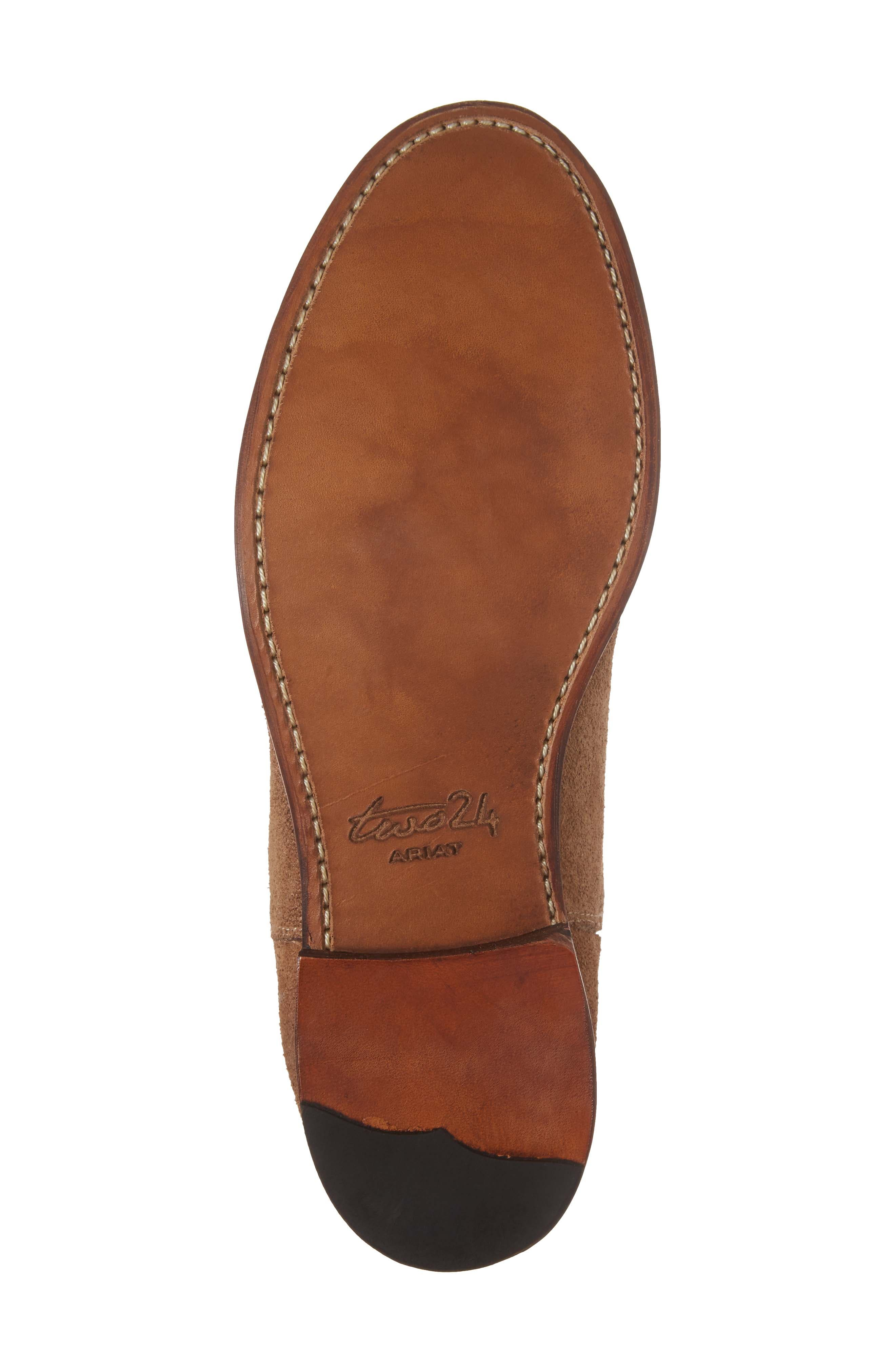 Ariat Maxwell Chelsea Boot,                             Alternate thumbnail 6, color,                             Amaretto Suede