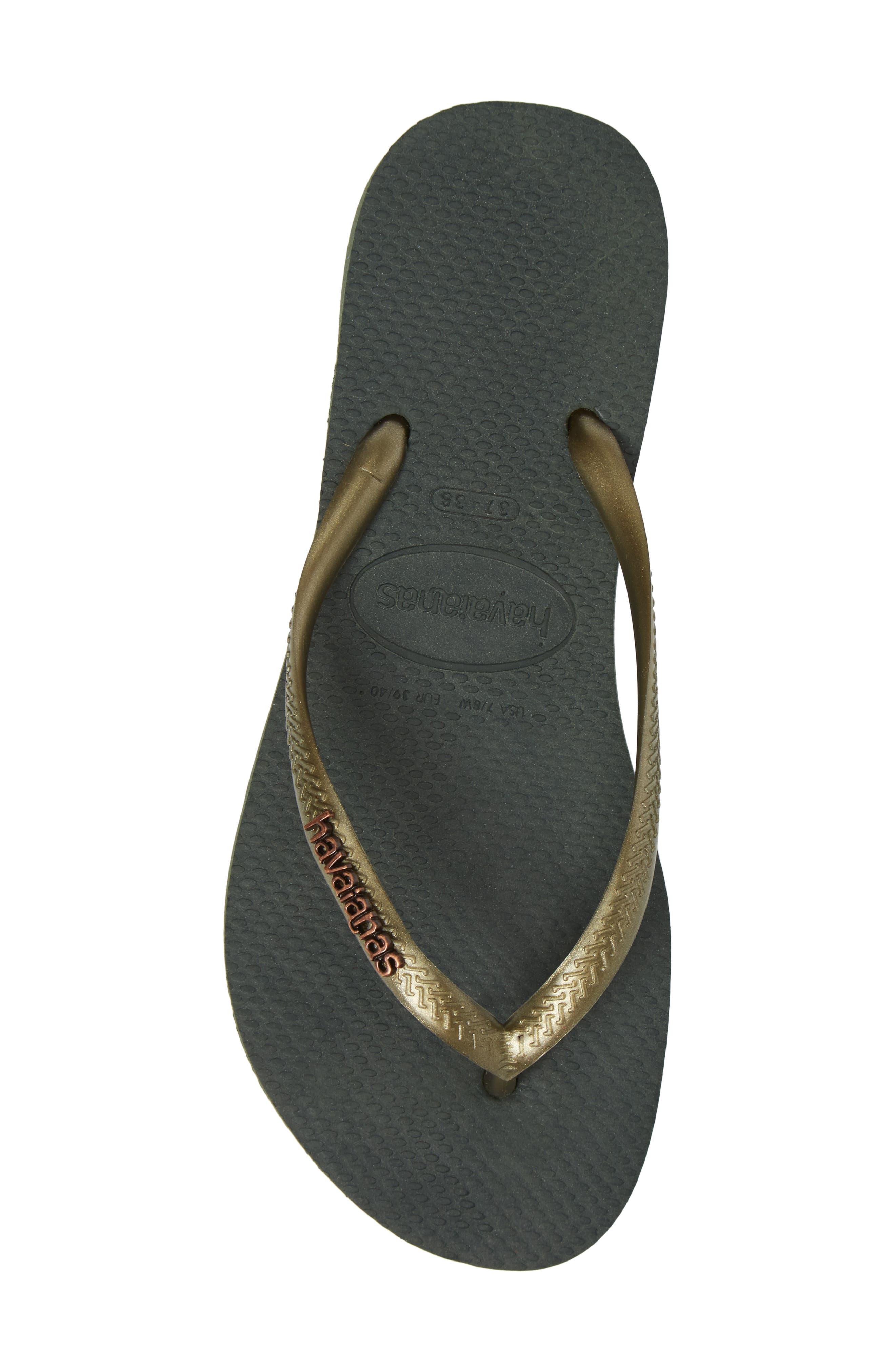 Alternate Image 5  - Havaianas 'Slim Logo' Metallic Flip Flop (Women)