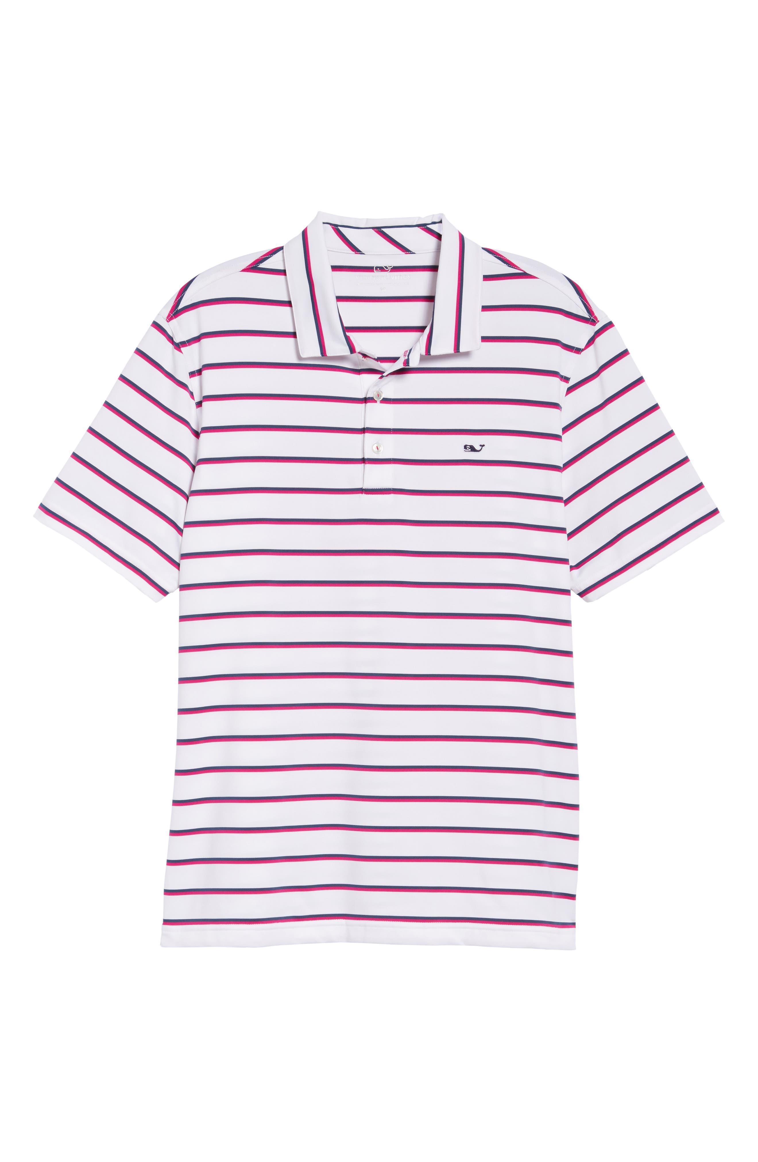 Eshman Stripe Polo,                             Alternate thumbnail 6, color,                             White Cap