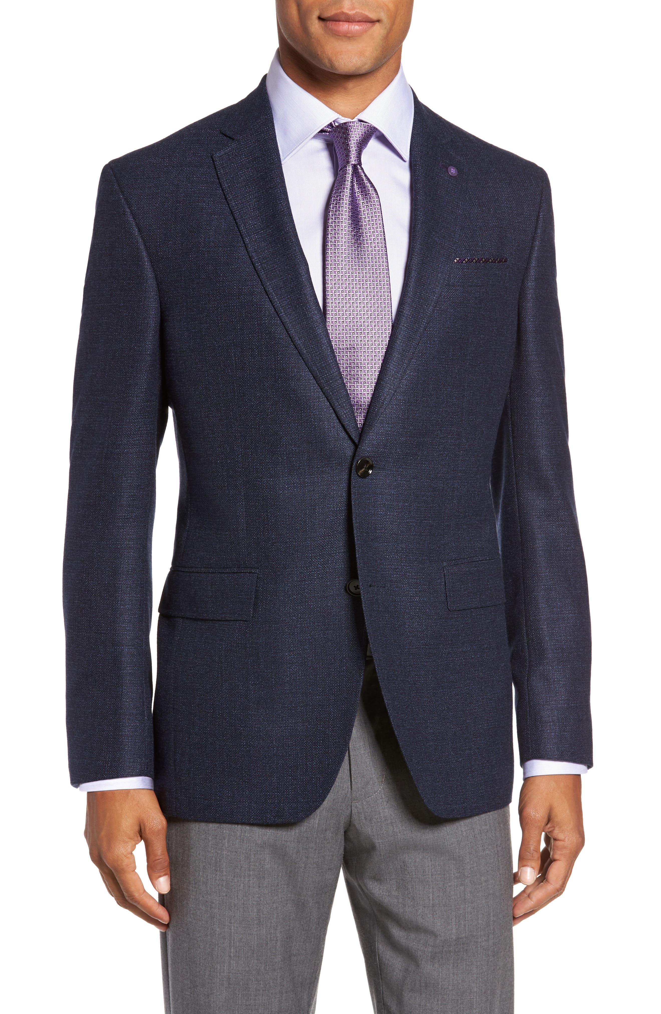 Main Image - Ted Baker London Trim Fit Wool Blazer