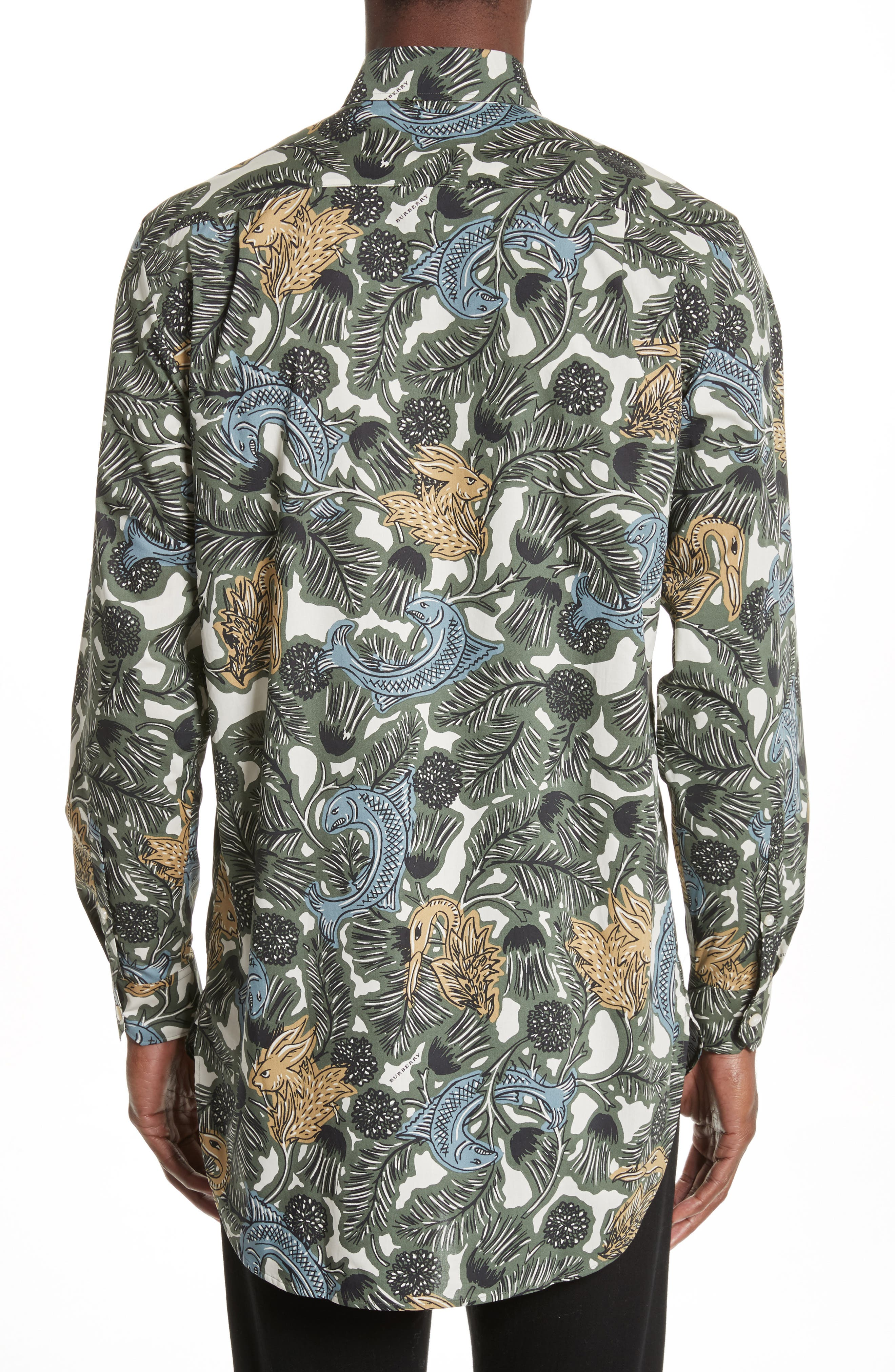 Alternate Image 2  - Burberry Whinfell Beasts Cotton Sport Shirt