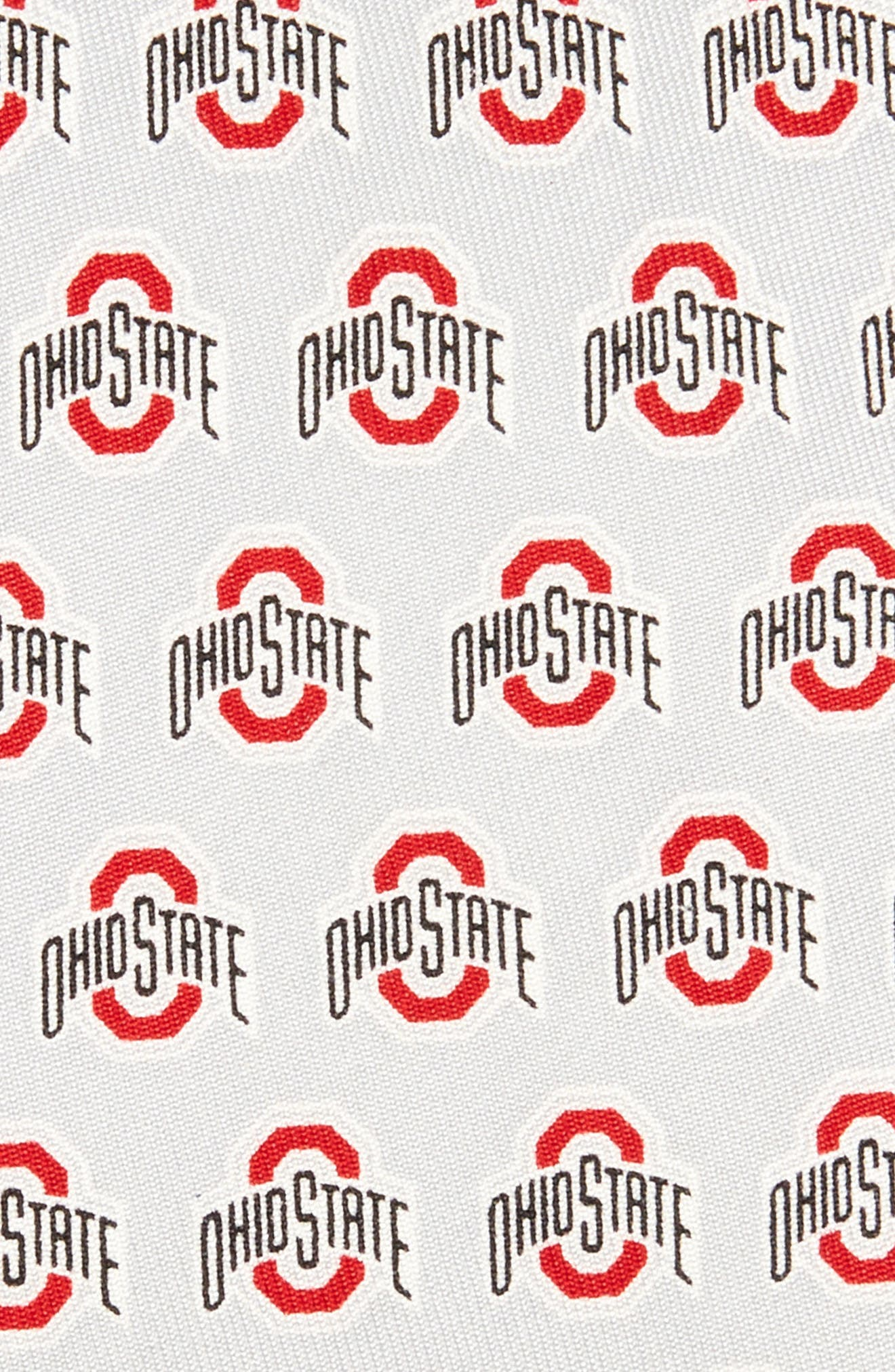 Ohio State Buckeyes Silk Tie,                             Alternate thumbnail 2, color,                             Pebble