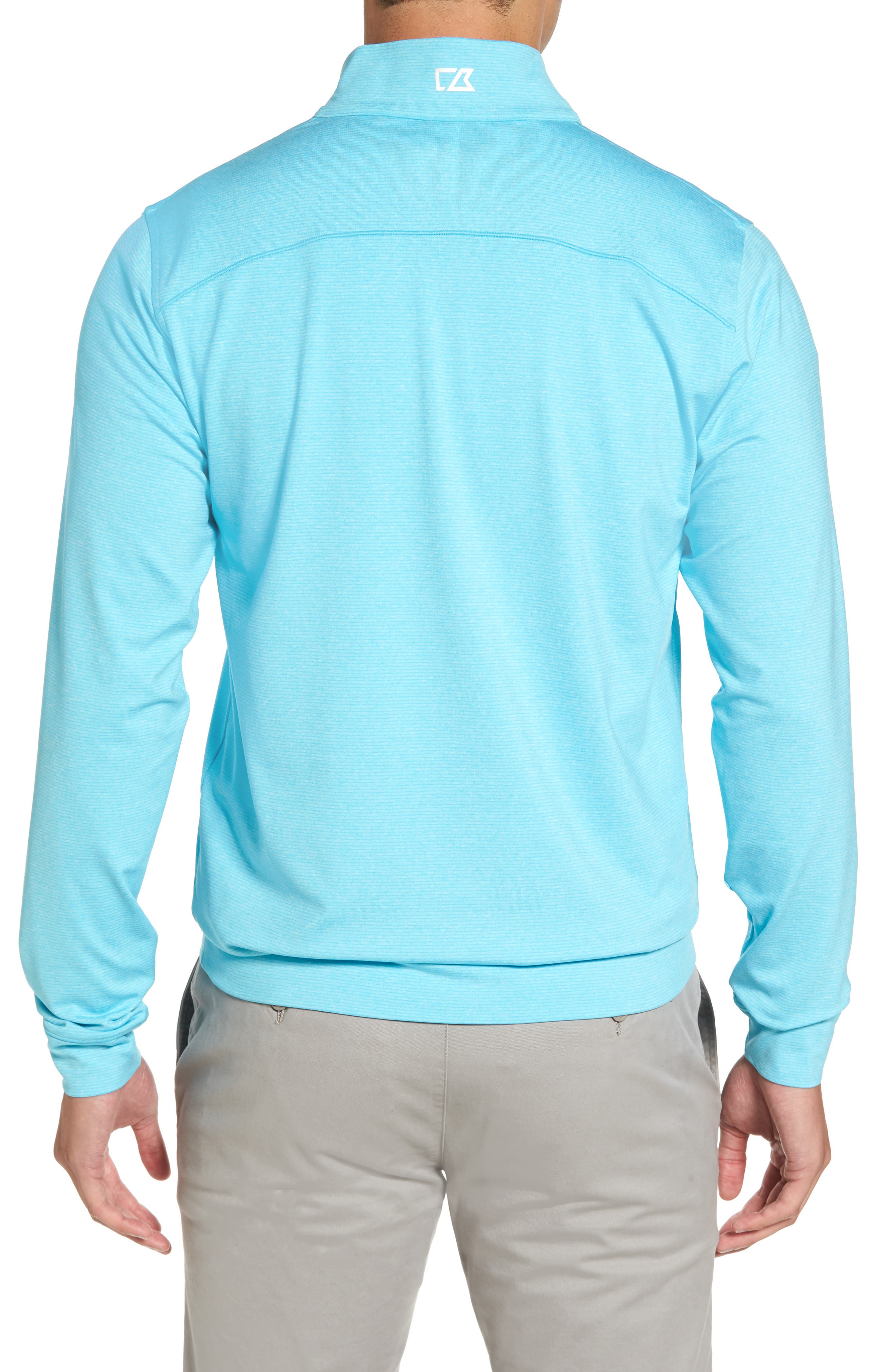 'Shoreline' Quarter Zip Pullover,                             Alternate thumbnail 2, color,                             Aruba Heather