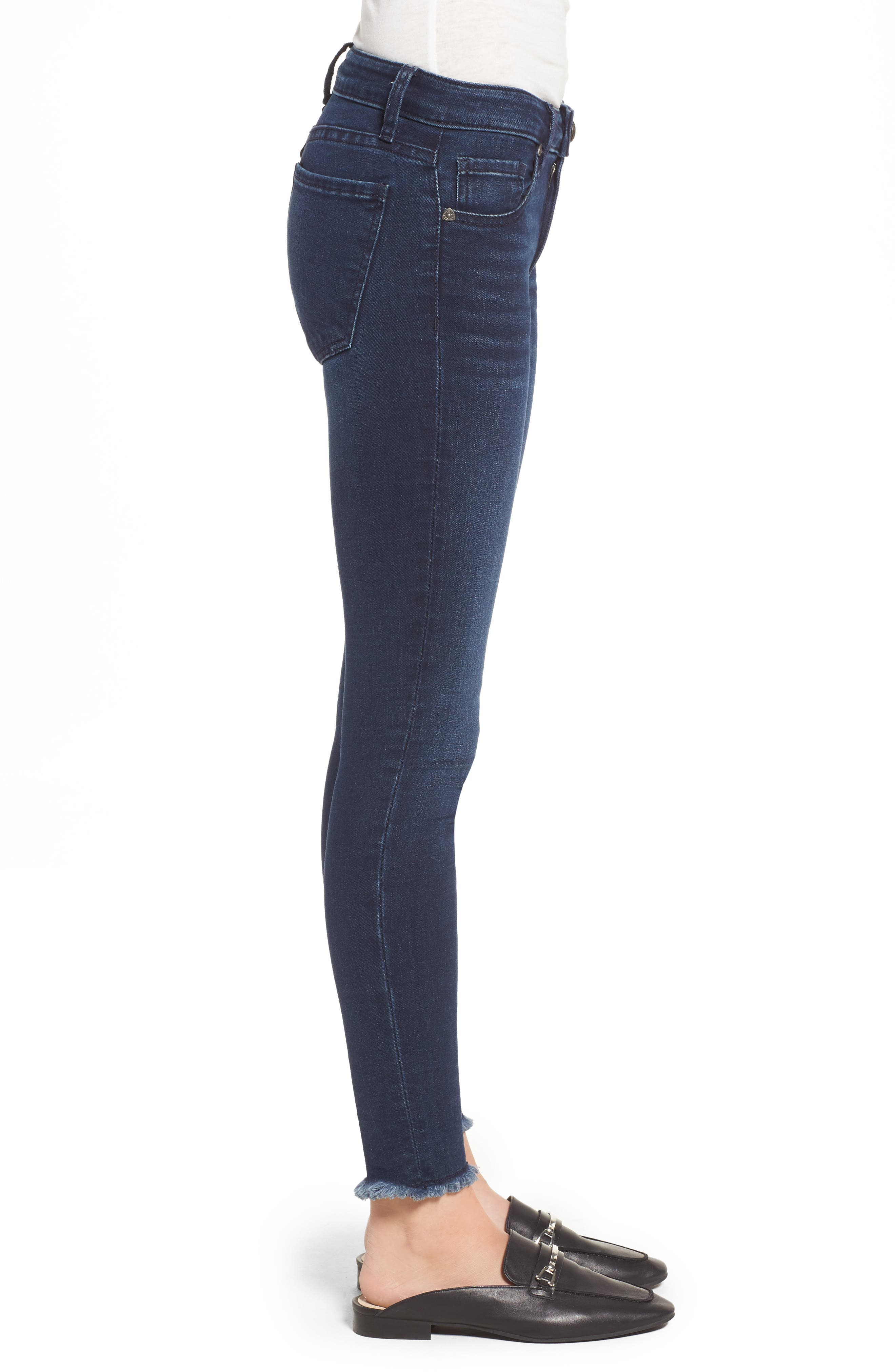 Alternate Image 4  - KUT from the Kloth Connie Skinny Ankle Jeans (Bloomed) (Regular & Petite)