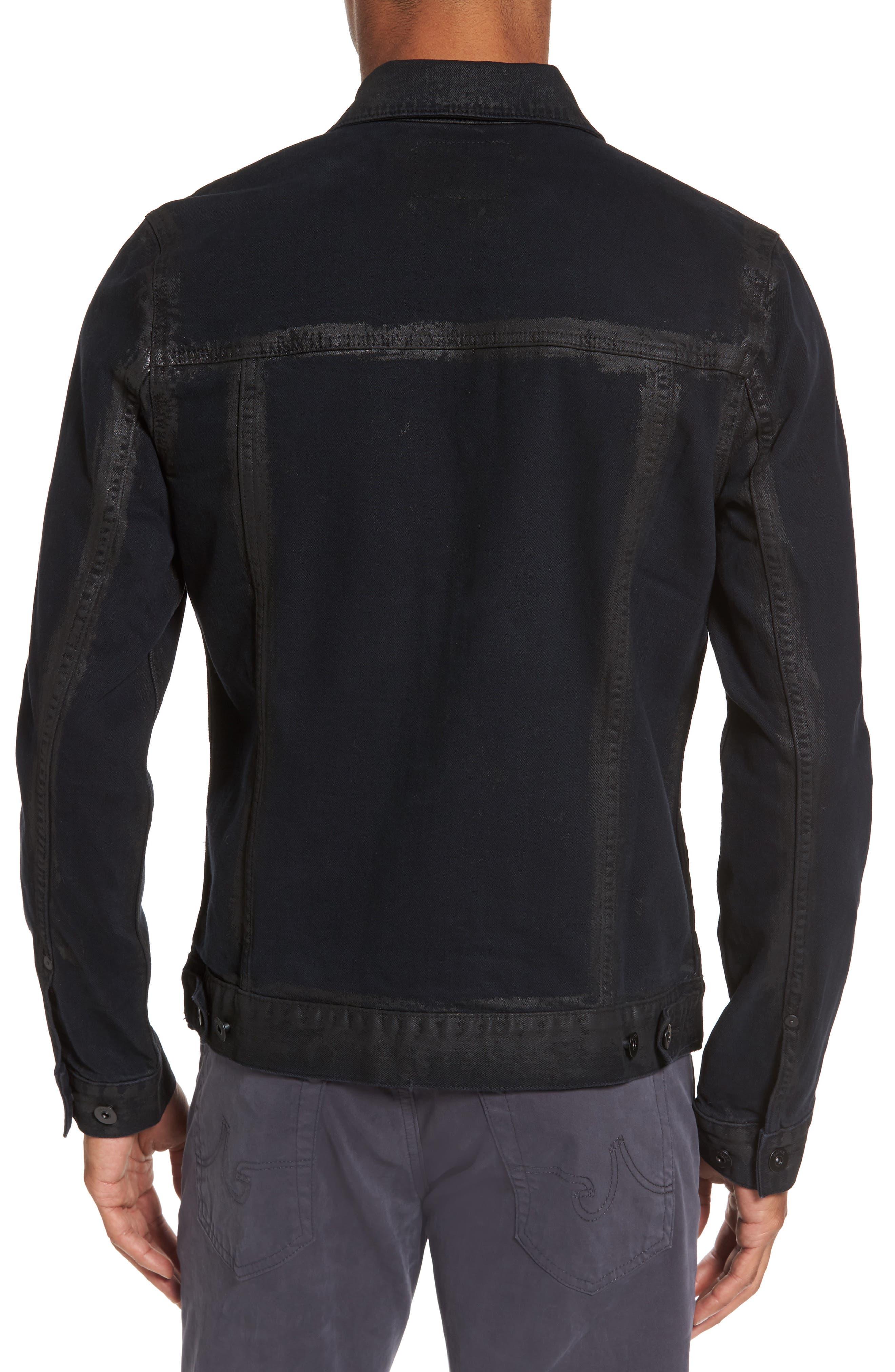 Scout Denim Jacket,                             Alternate thumbnail 2, color,                             Black Gold